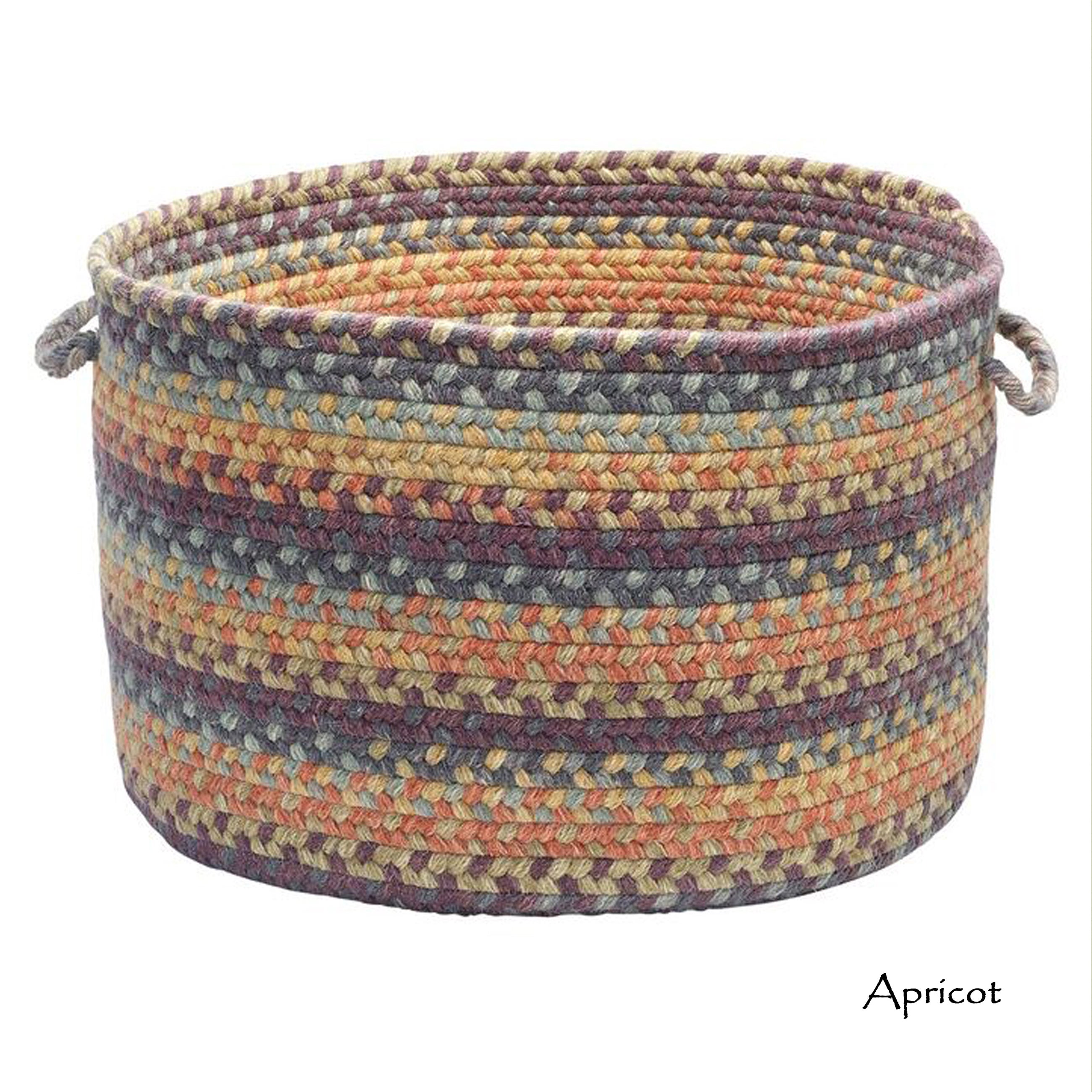 Bon Shop Wool Spacedye Large Floor Storage Basket With Handles   Free Shipping  Today   Overstock.com   14066062
