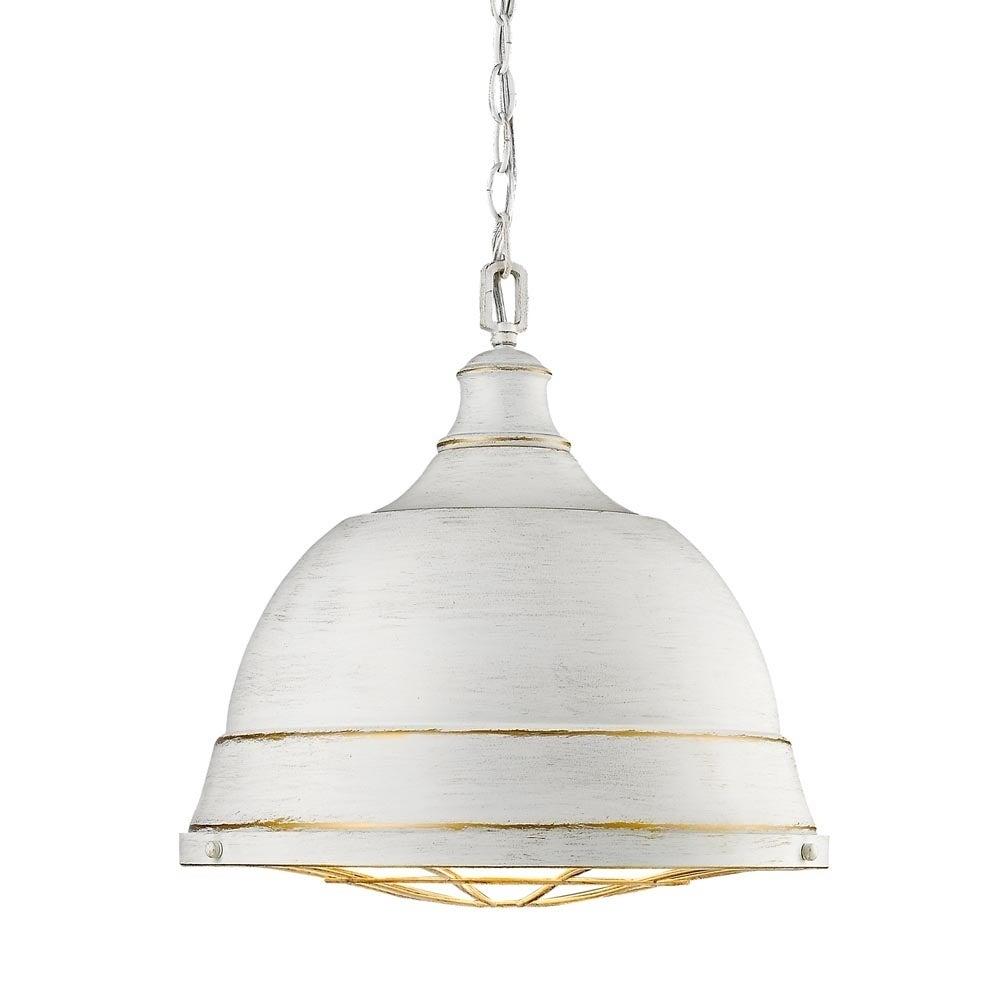 Golden Lighting Bartlett French White Steel Large Pendant Light On Free Shipping Today 14075473