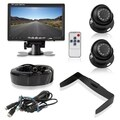 Pyle PLCMTR7250 7-inch Display Rear-view Waterproof Angle-adjustable Night-vision Backup 2-camera and Monitor System Kit