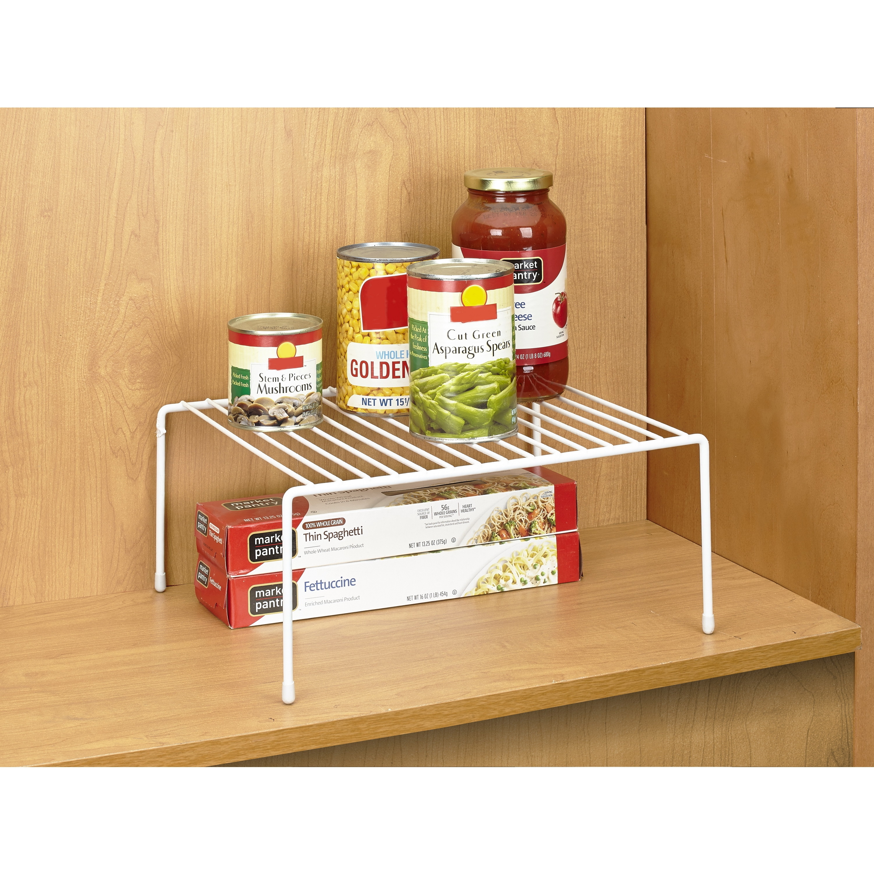 Simply kitchen details medium white iron kitchen shelf organizer free shipping on orders over 45 overstock com 20690305