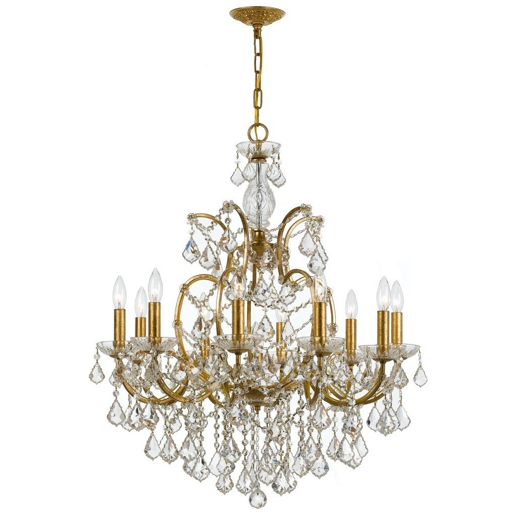 Crystorama filmore collection 10 light antique goldswarovski crystorama filmore collection 10 light antique goldswarovski elements strass crystal chandelier free shipping today overstock 20690340 arubaitofo Image collections