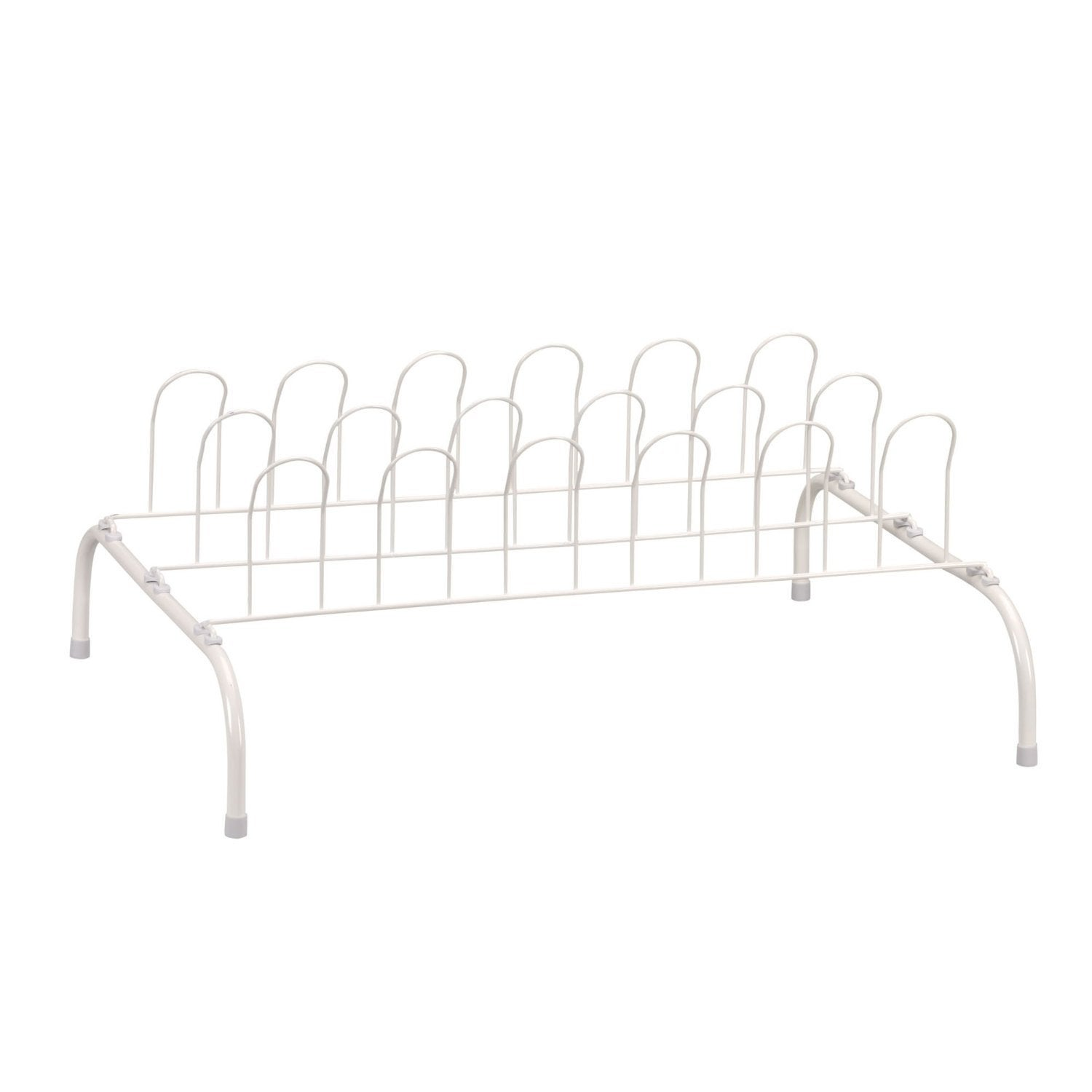 9-Pair Wire Shoe Rack, White - Free Shipping On Orders Over $45 ...