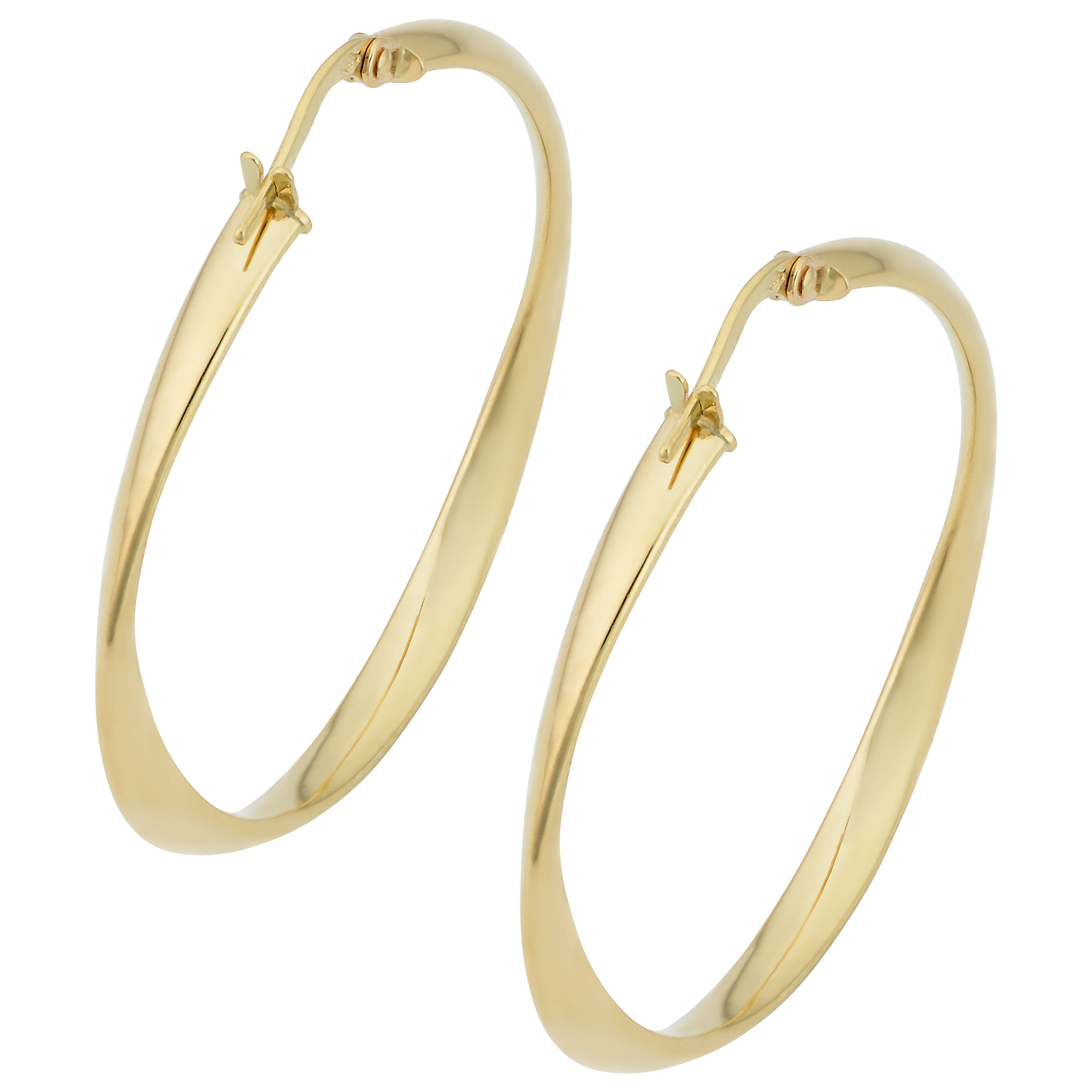 gold italian free earrings today product jewelry overstock fremada twisted shipping hoop yellow watches
