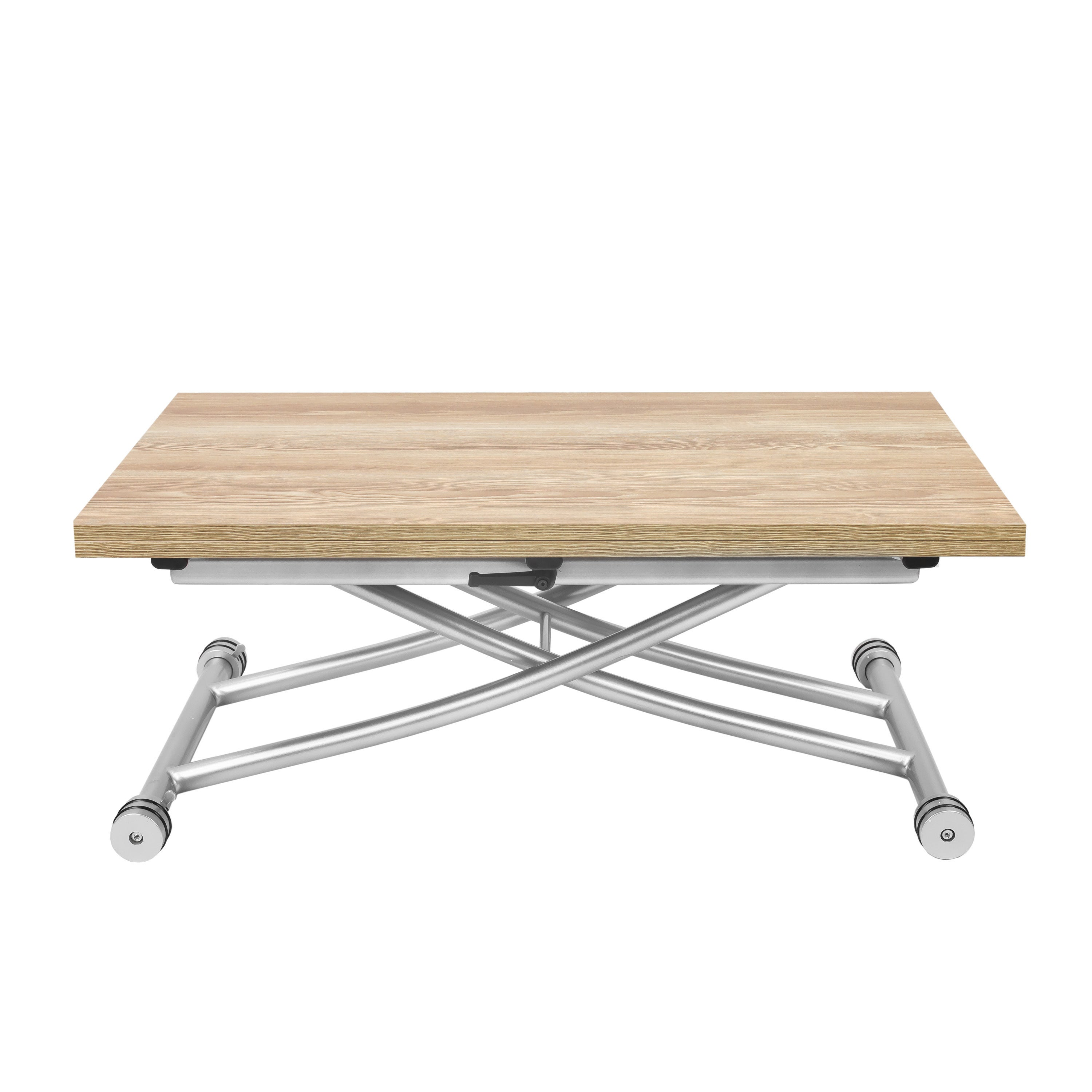 Transforming X Light Beige Finish Woodsteel Coffee And Dining Table