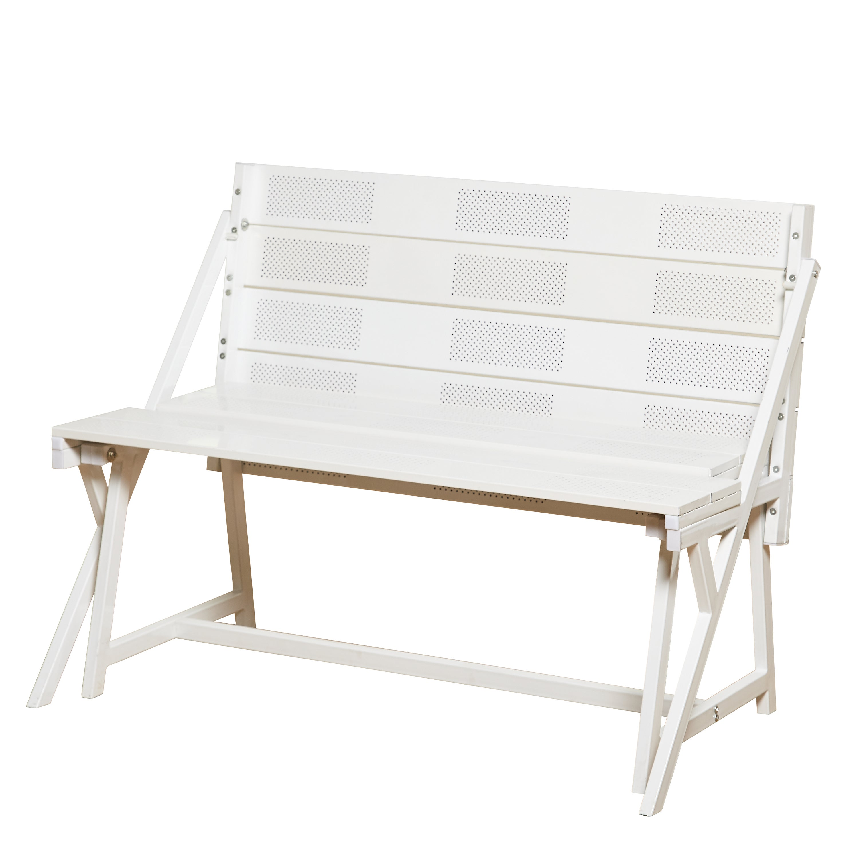 Simple Living Metal Folding Table And Dining Bench Set   Free Shipping  Today   Overstock.com   20694345