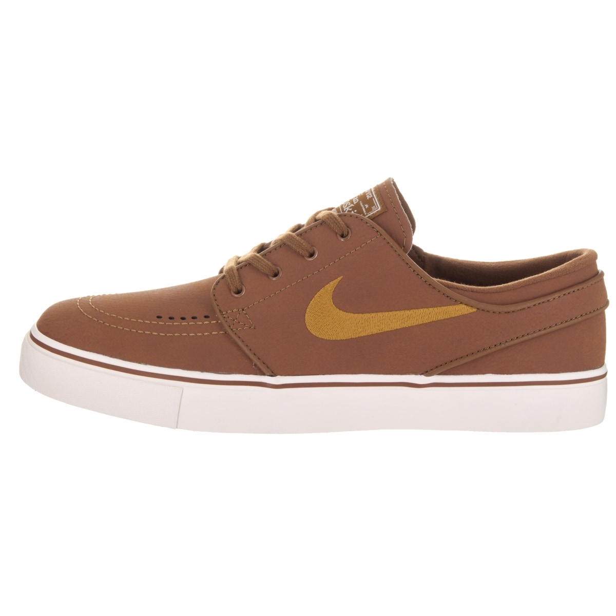 best website 9bd15 d2bf7 Shop Nike Men s Zoom Stefan Janoski L Brown Leather Skate Shoes - Free  Shipping Today - Overstock - 14084027
