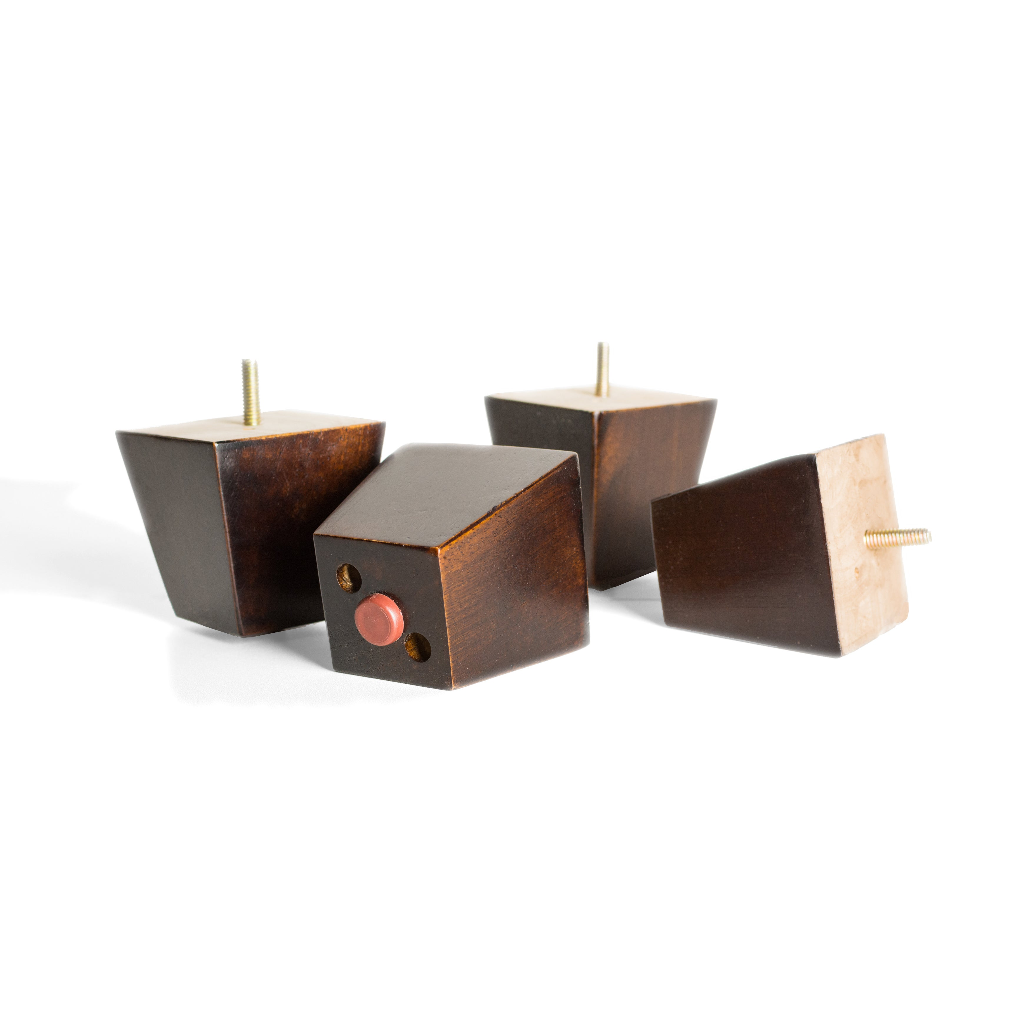 MJL Furniture Designs Small 3 1/4 Inch Tall Block Wooden Furniture Feet  (Set Of 4)   Free Shipping Today   Overstock   20695052