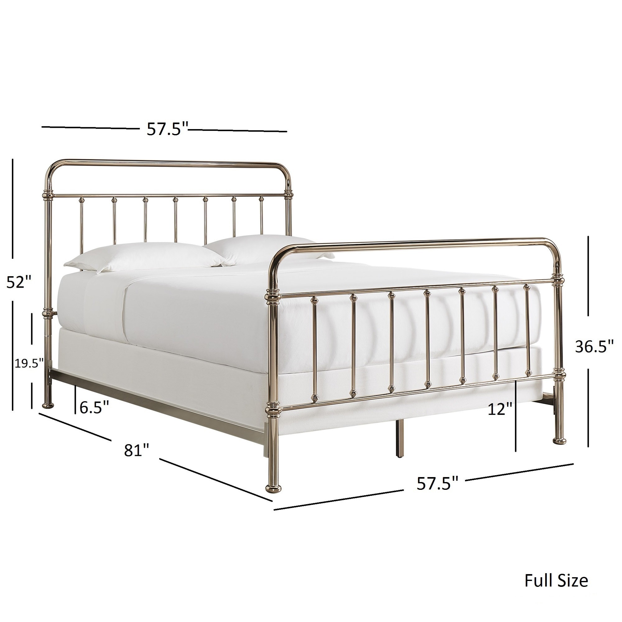 Giselle Graceful Lines Victorian Champagne Gold Metal Bed by iNSPIRE Q Bold  - Free Shipping Today - Overstock.com - 20695150