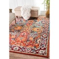 nuLOOM Traditional Flower Persian Multi Rug (3' x 5')