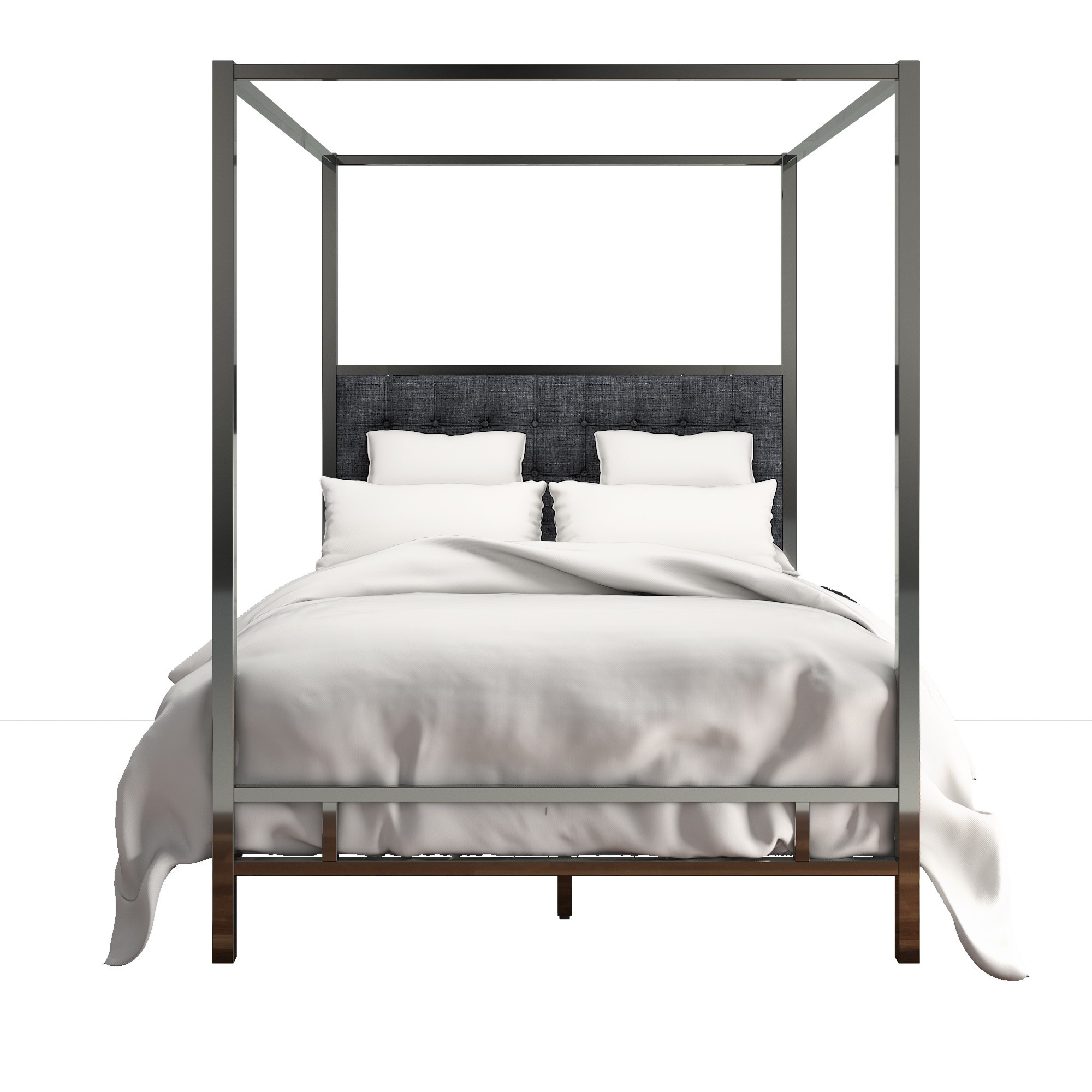 e6acd810ac0d Shop Solivita Black Nickel Metal Queen-size Canopy Poster Bed by iNSPIRE Q  Bold - On Sale - Free Shipping Today - Overstock - 14086304