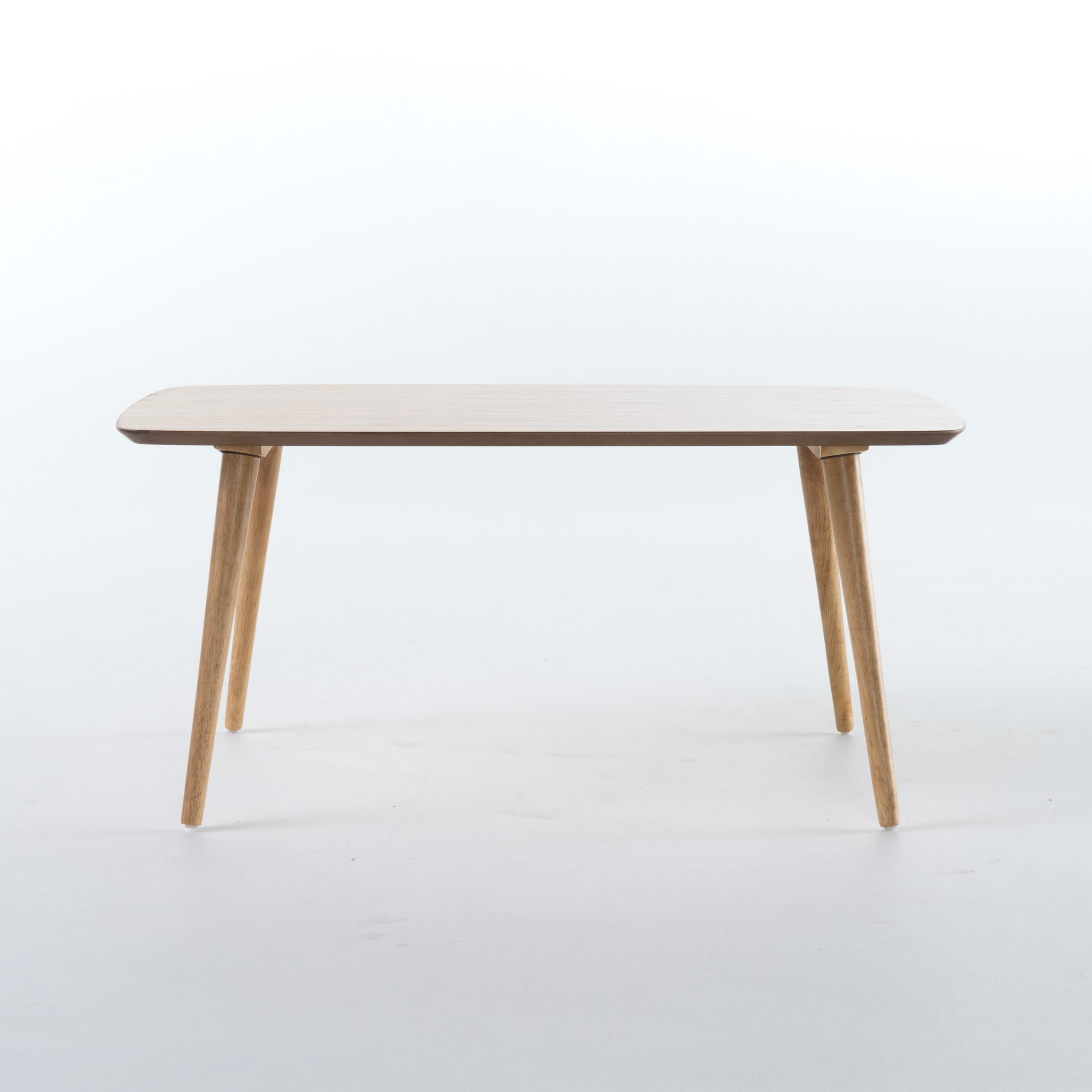 Cilla Mid Century Wood Rectangle Coffee Table by Christopher
