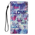Insten Blue Love Leather Case Cover Lanyard with Stand/ Wallet Flap Pouch/ Photo Display For LG G Stylo/ G Vista 2
