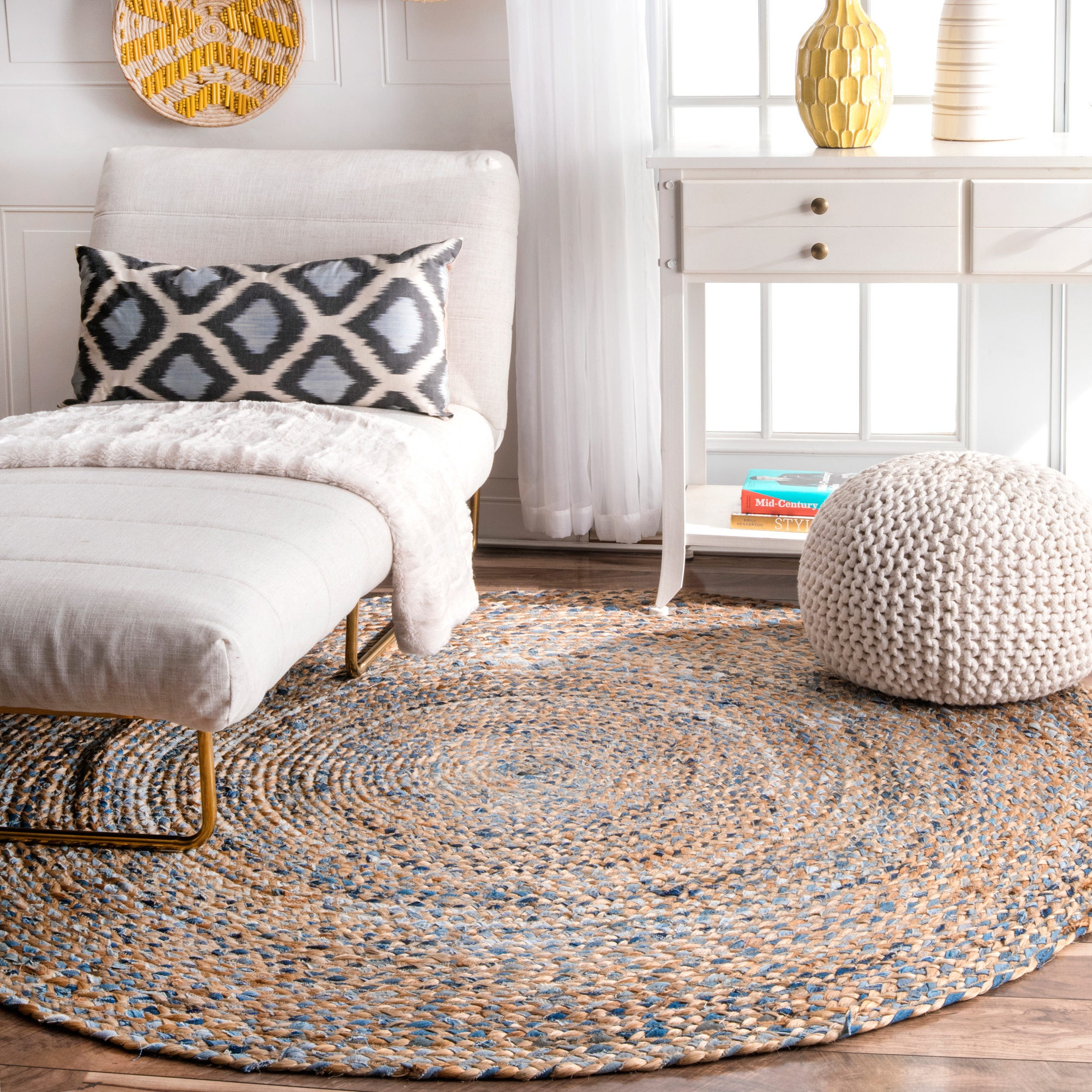 Shop nuloom handmade braided natural fiber jute round rug 6 round 6 round on sale free shipping today overstock com 14091983