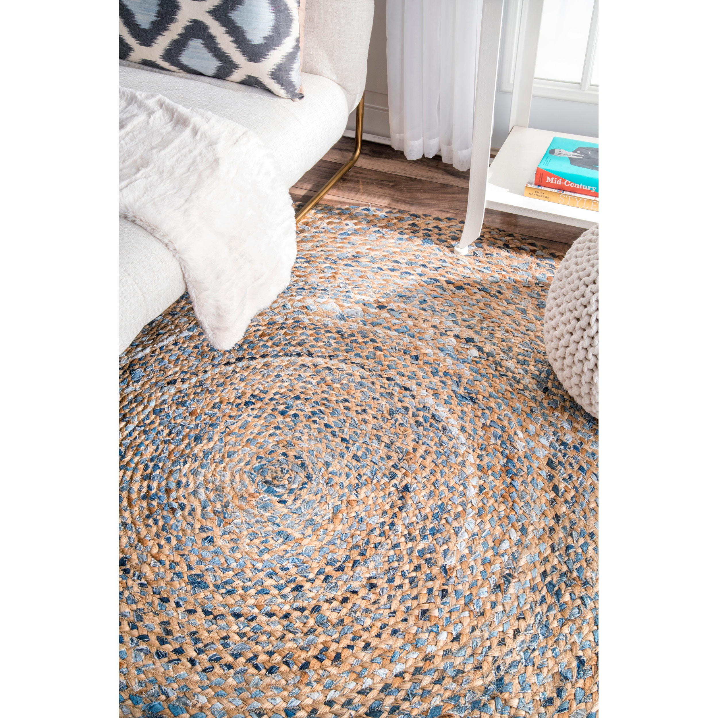 Nuloom Handmade Braided Natural Fiber Jute Round Rug 8 On Free Shipping Today 14091988