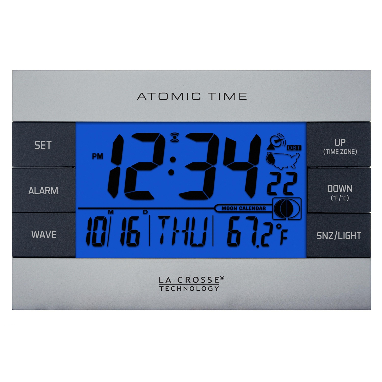 Shop La Crosse Technology 617 1280 Silver Atomic Digital Alarm Clock