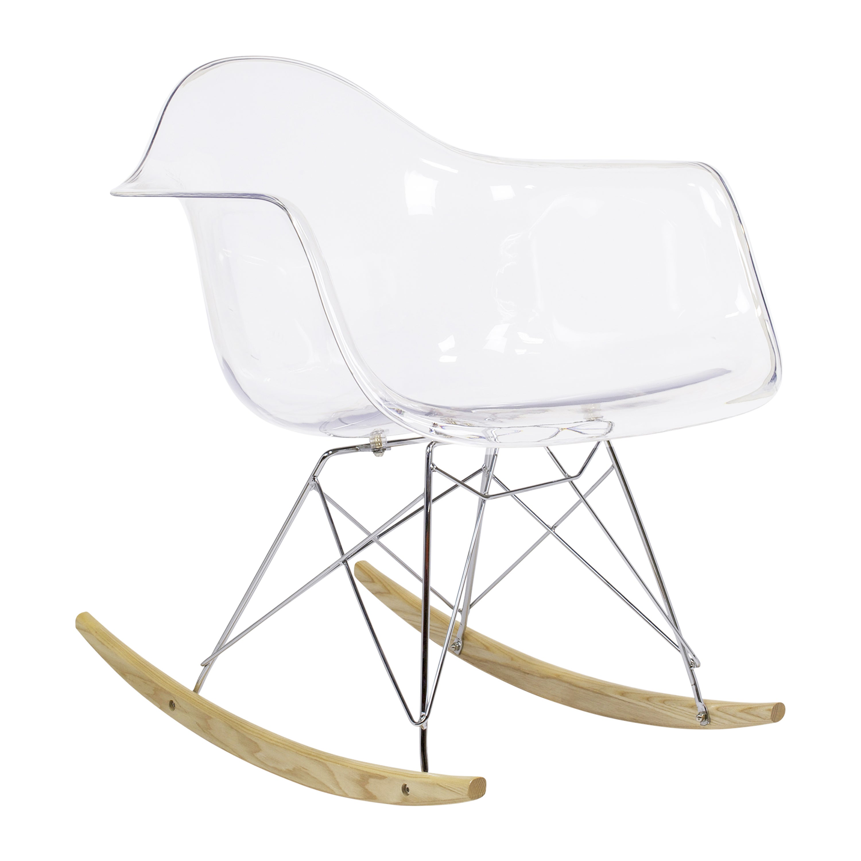 Eames RAR Style Mid Century Modern Molded Plastic Rocking Arm Chair