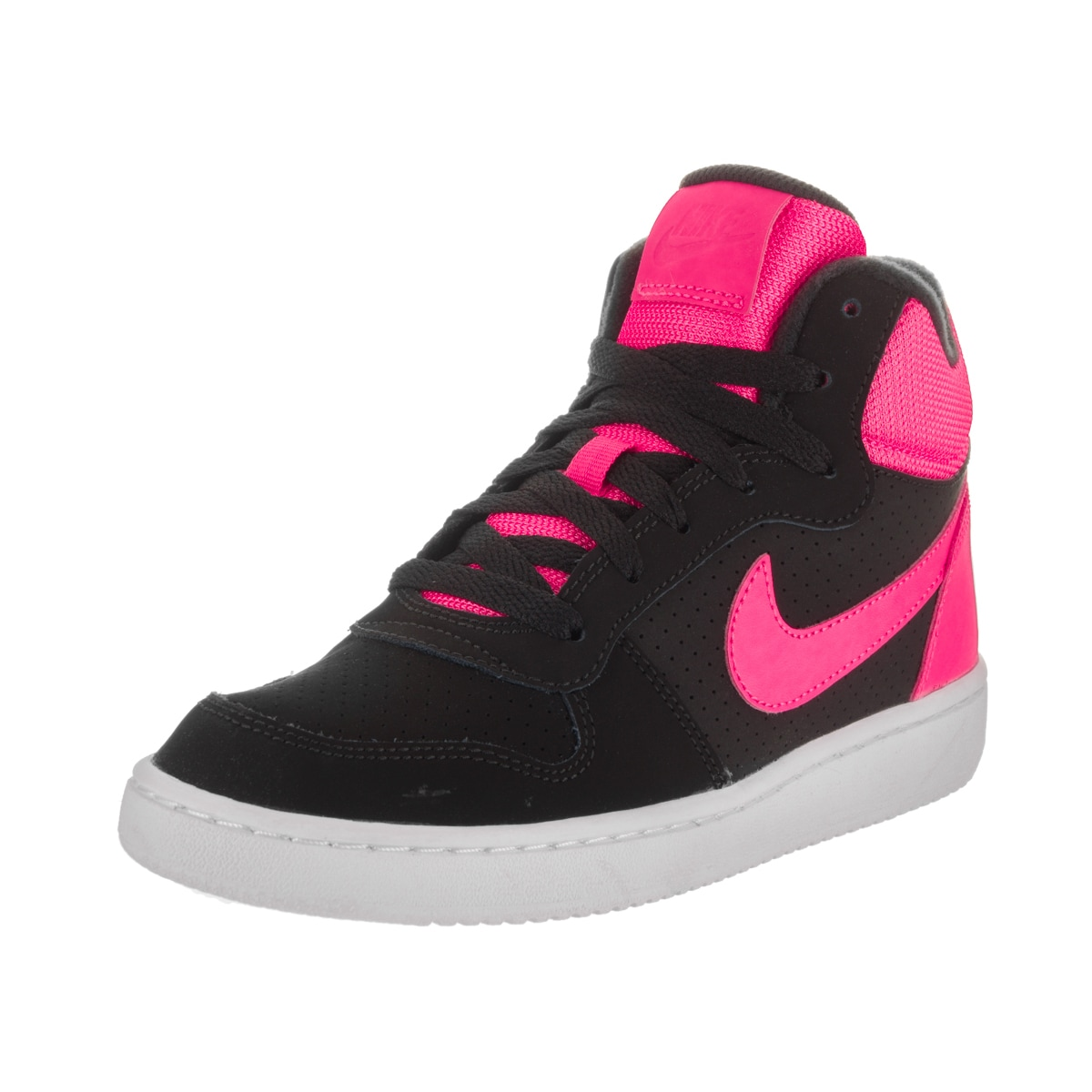 b54a78f60727 Shop Nike Kids Court Borough Mid (GS) Basketball Shoes - Free Shipping  Today - Overstock - 14092753