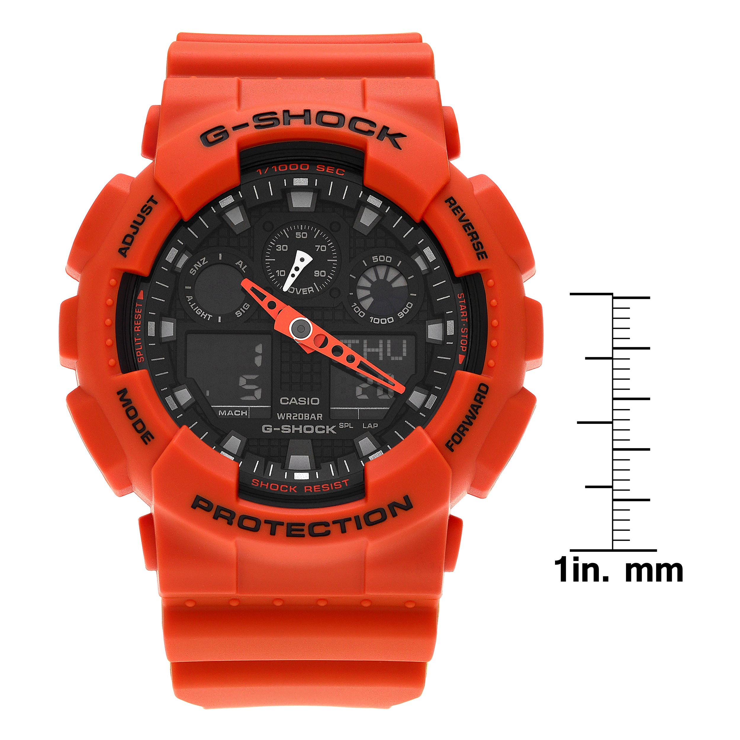 shock casio resin watch g watches ladies orange