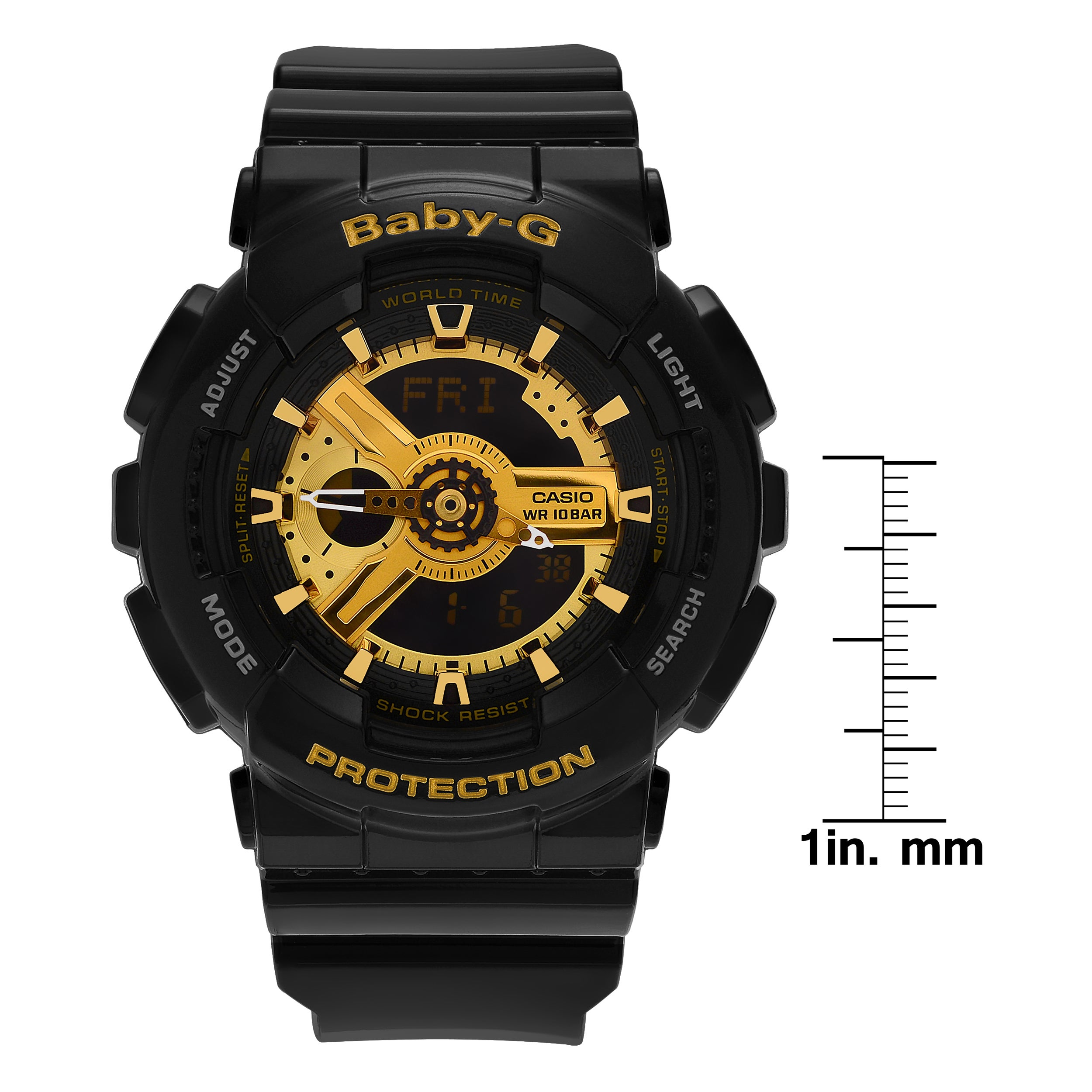 80fe18dcf6762 Shop Casio Women s BA110-1A  Baby-G  Black Analog Digital Dial Resin Strap  Watch - Free Shipping Today - Overstock - 14094378