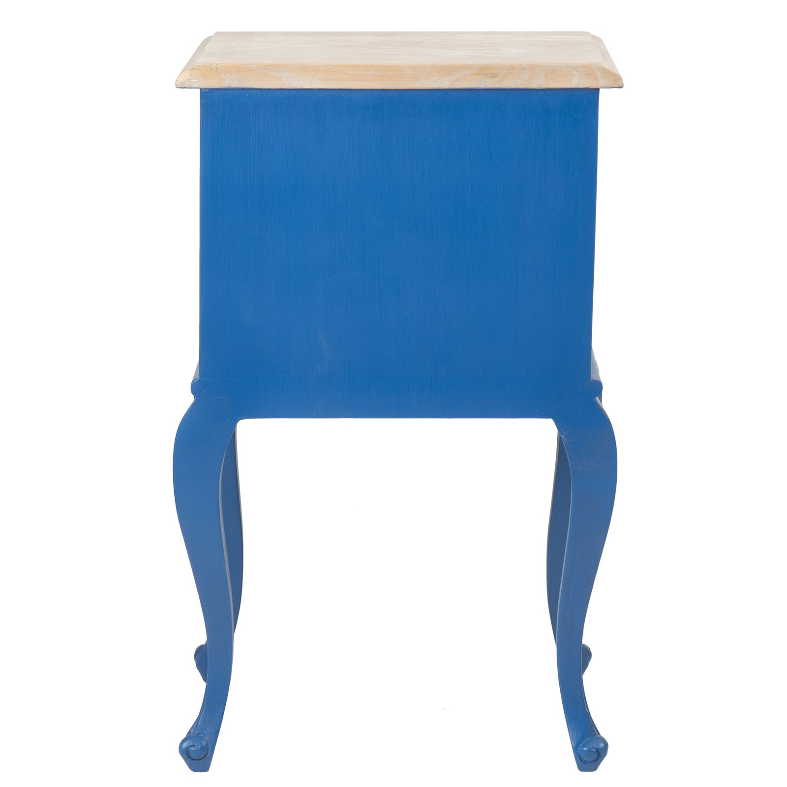 East At Main\'s Herrin Blue Square Traditional Teakwood Accent Table ...