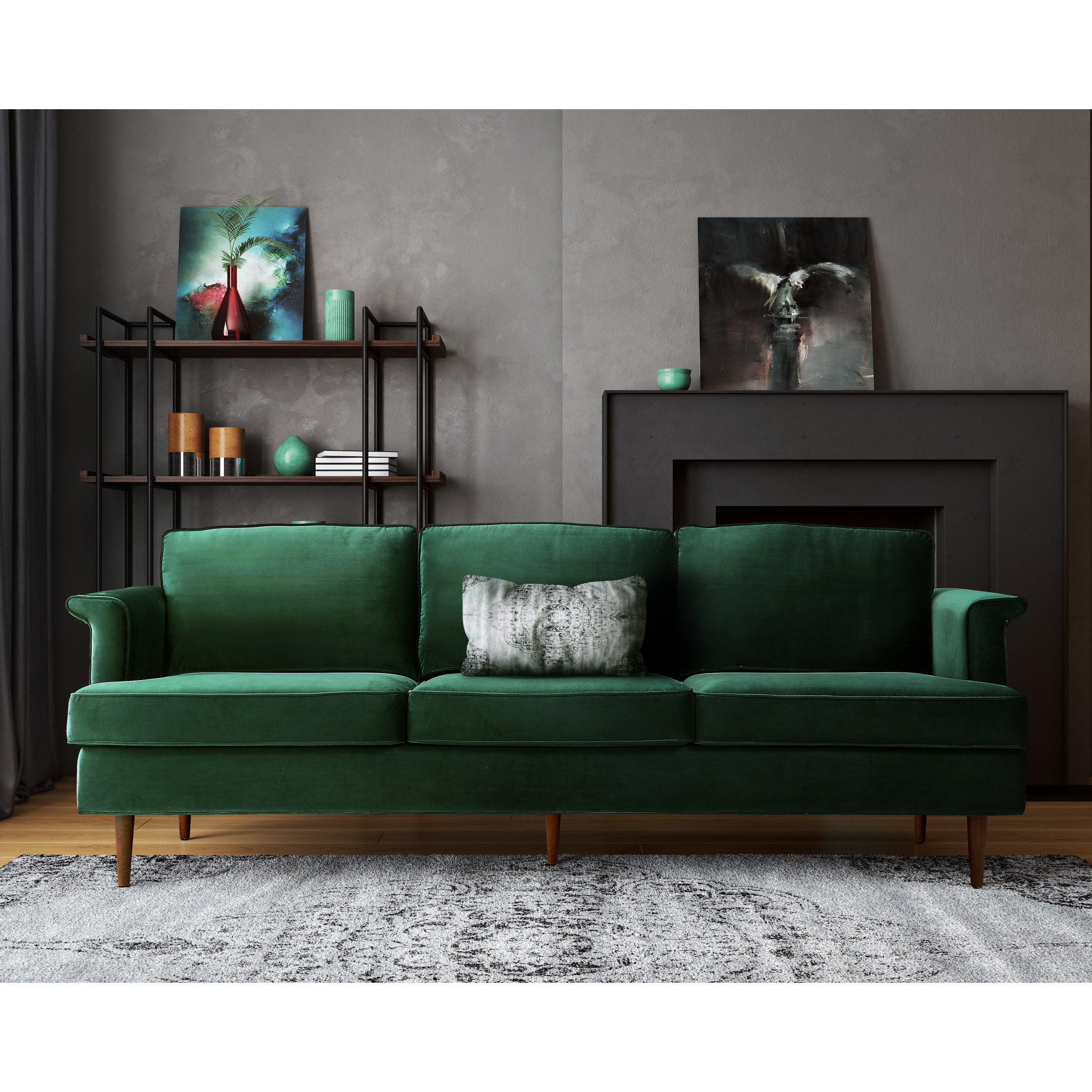 Porter Forest Green Sofa Free Shipping Today 14096471