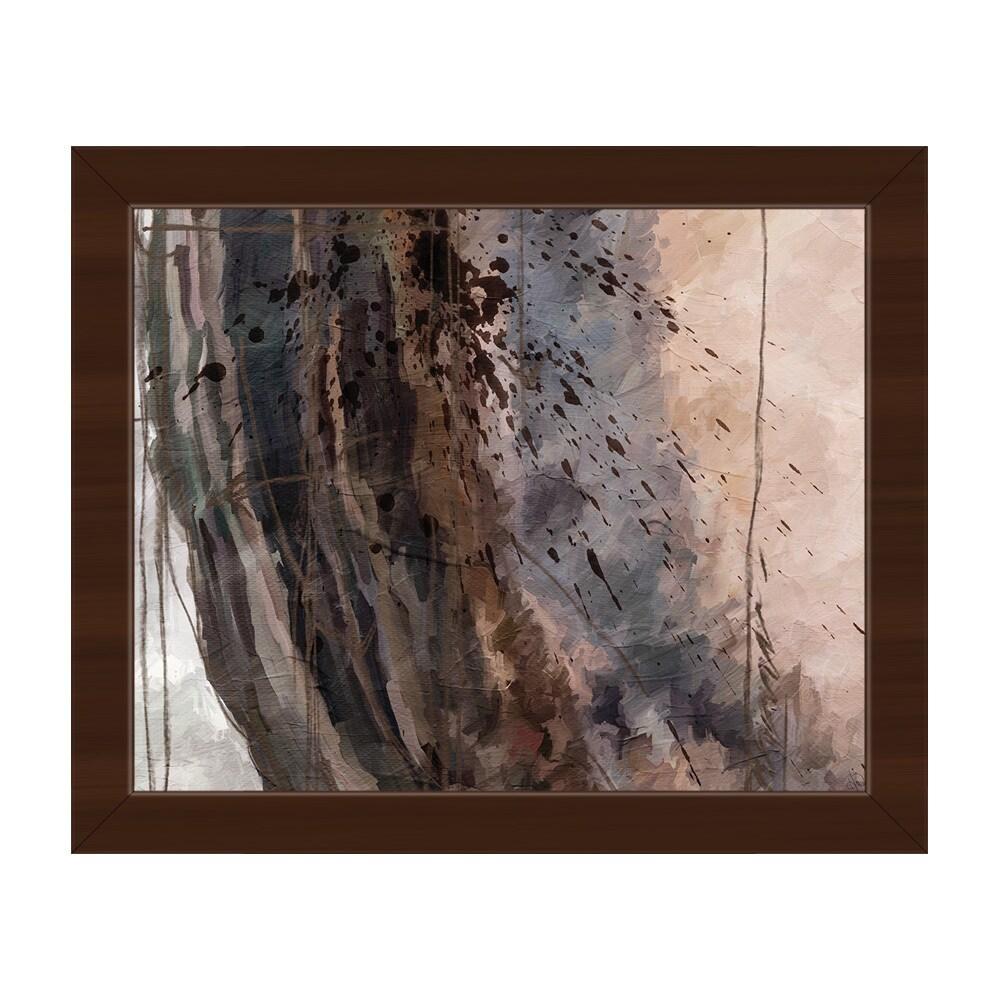 Chaos shell framed canvas abstract wall art print