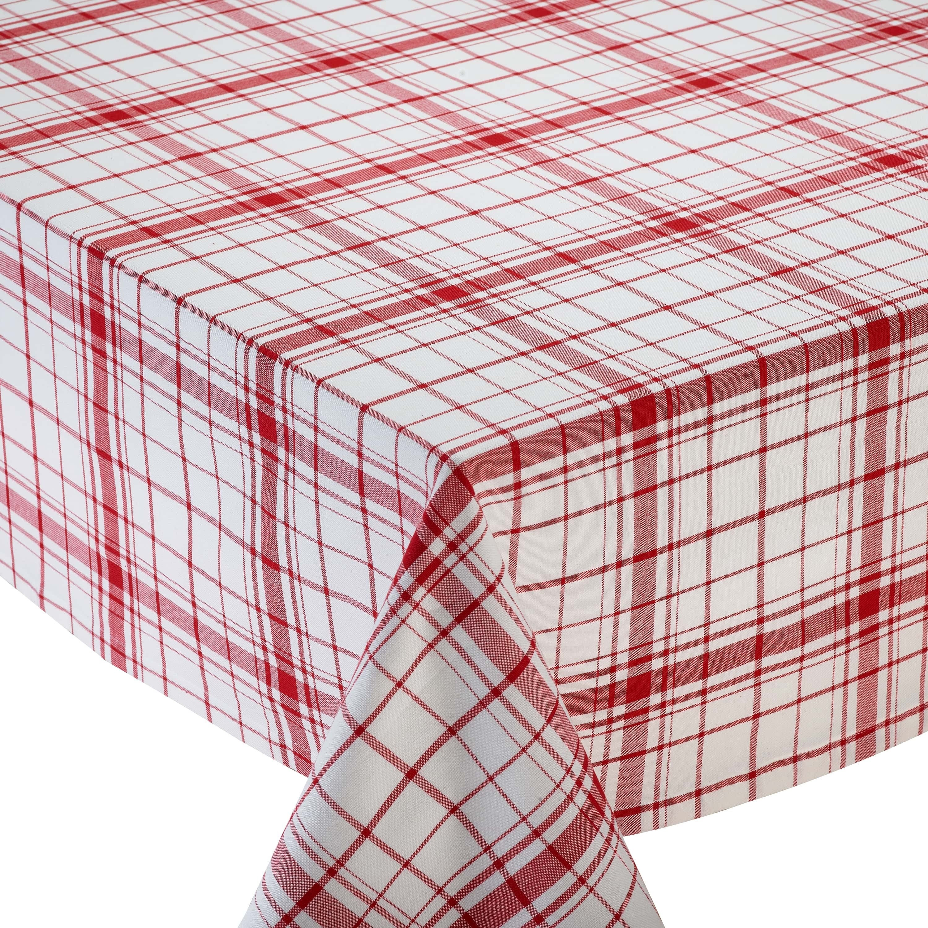 Merveilleux Shop Down Home Red/White Cotton Plaid Tablecloth   Free Shipping On Orders  Over $45   Overstock.com   14096741