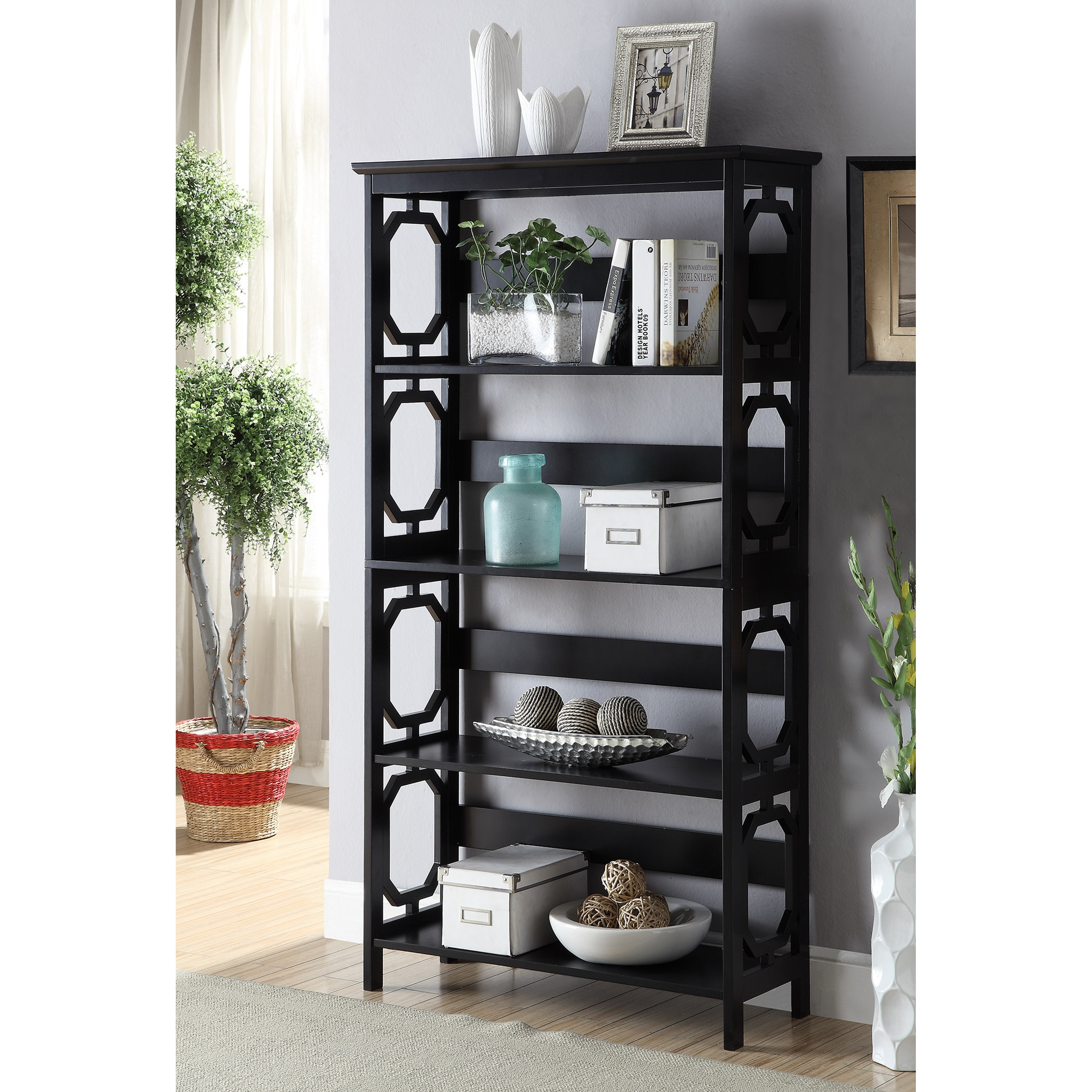 Porch & Den Bywater Lesseps 5 Tier Bookcase  Free Shipping