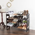 Everyday Home 4 Tier Stackable Shoe Rack 16 Pair Capacity - Black