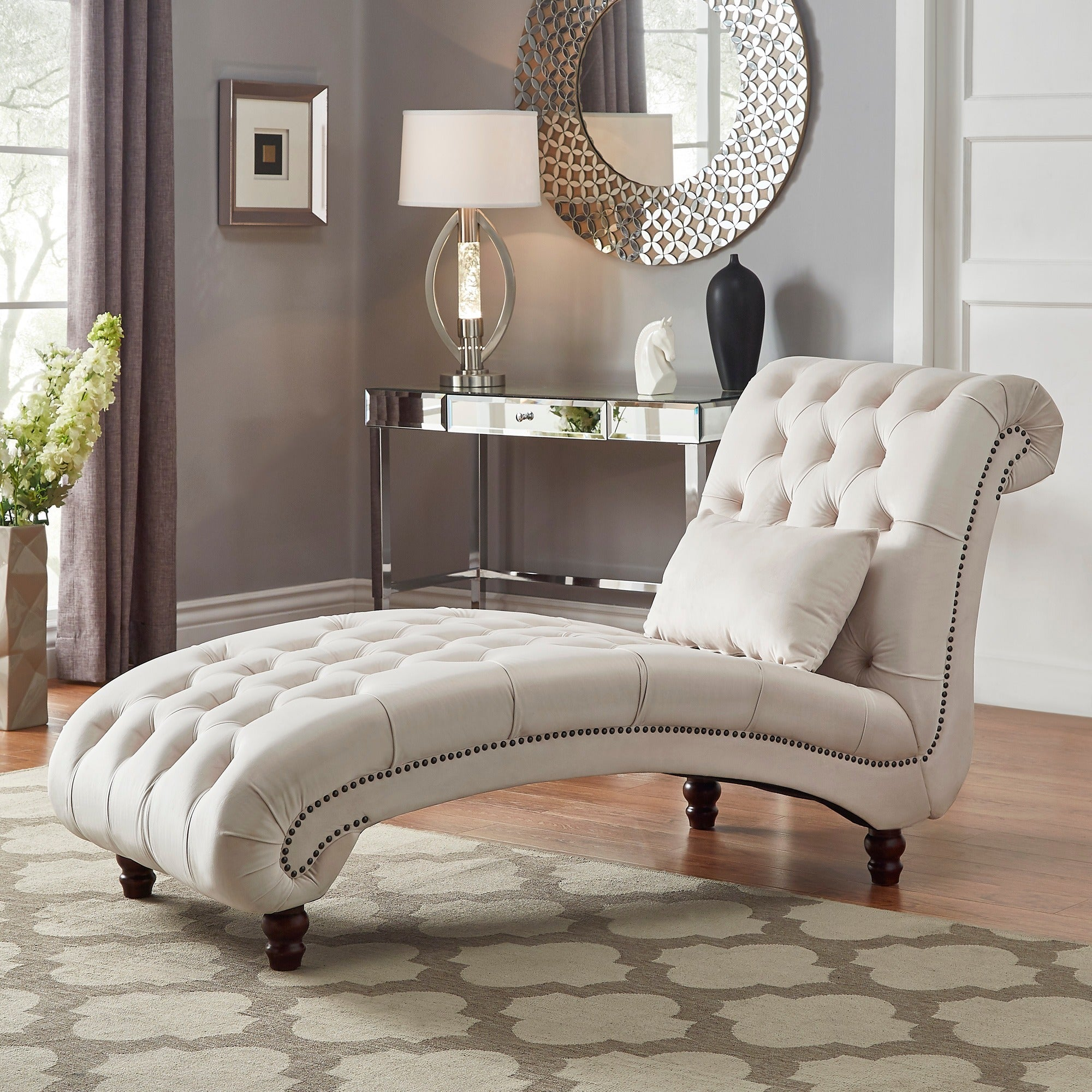 Superbe Shop Knightsbridge Tufted Oversized Chaise Lounge By INSPIRE Q Artisan    Free Shipping Today   Overstock.com   20603799
