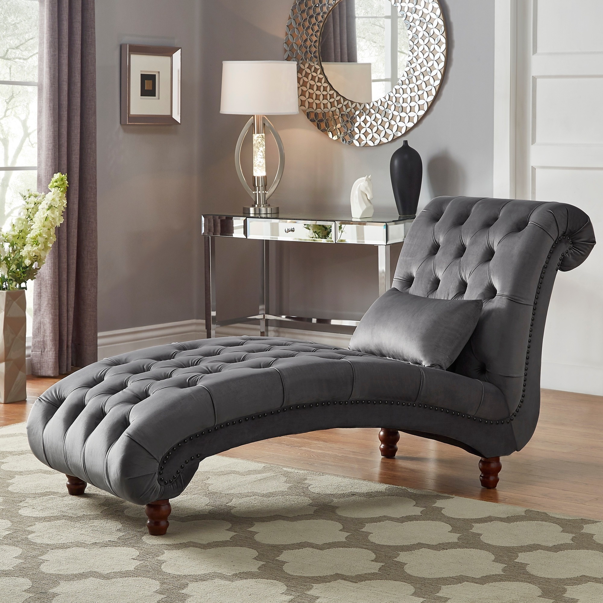 Shop knightsbridge tufted oversized chaise lounge by inspire q artisan on sale free shipping today overstock com 20603799