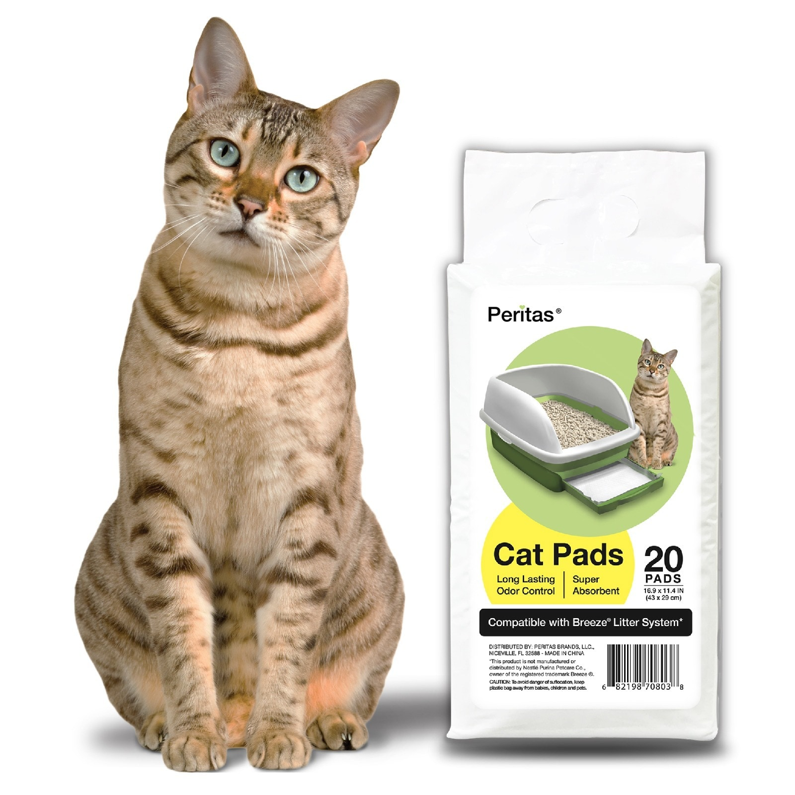 Peritas Generic Refill Cat Pads for Breeze Tidy Cat Litter System (80 pads)  - Free Shipping Today - Overstock.com - 20720272
