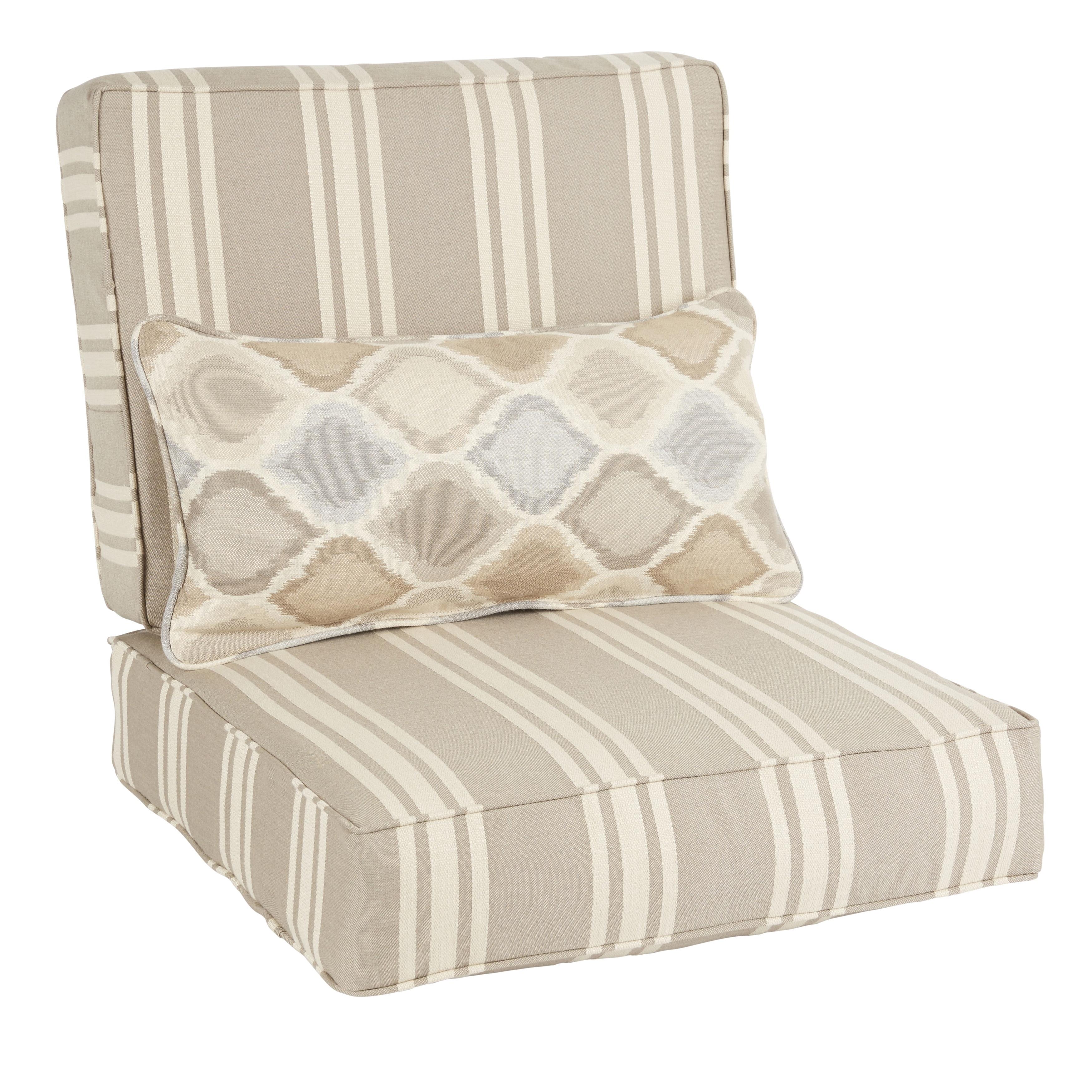 Humble + Haute Oakley Sunbrella Striped Indoor Outdoor Corded Chair