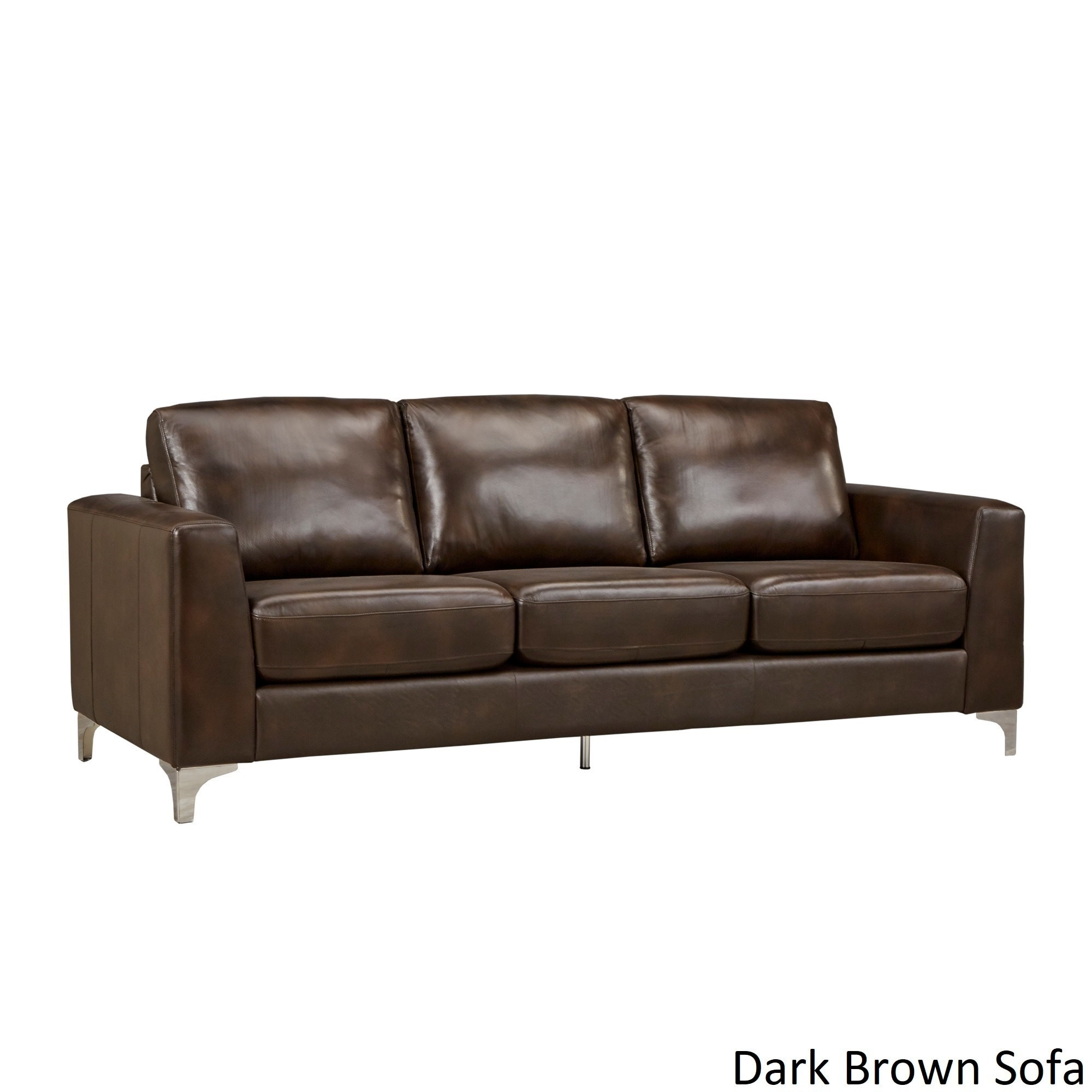Shop Bastian Aniline Leather Sofa By INSPIRE Q Modern   On Sale   Free  Shipping Today   Overstock   14124766