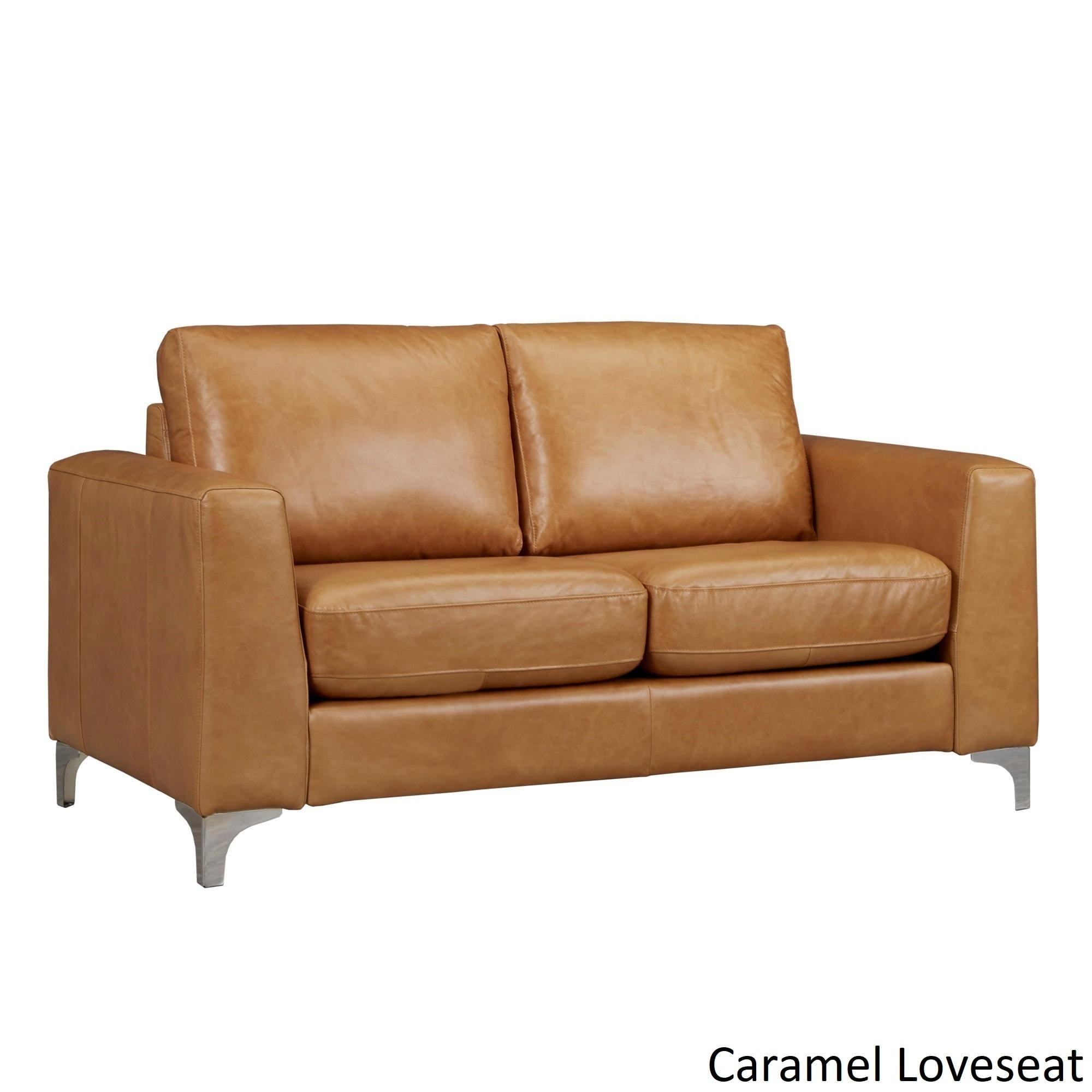 Ledersofa modern  Bastian Aniline Leather Sofa by iNSPIRE Q Modern - Free Shipping ...