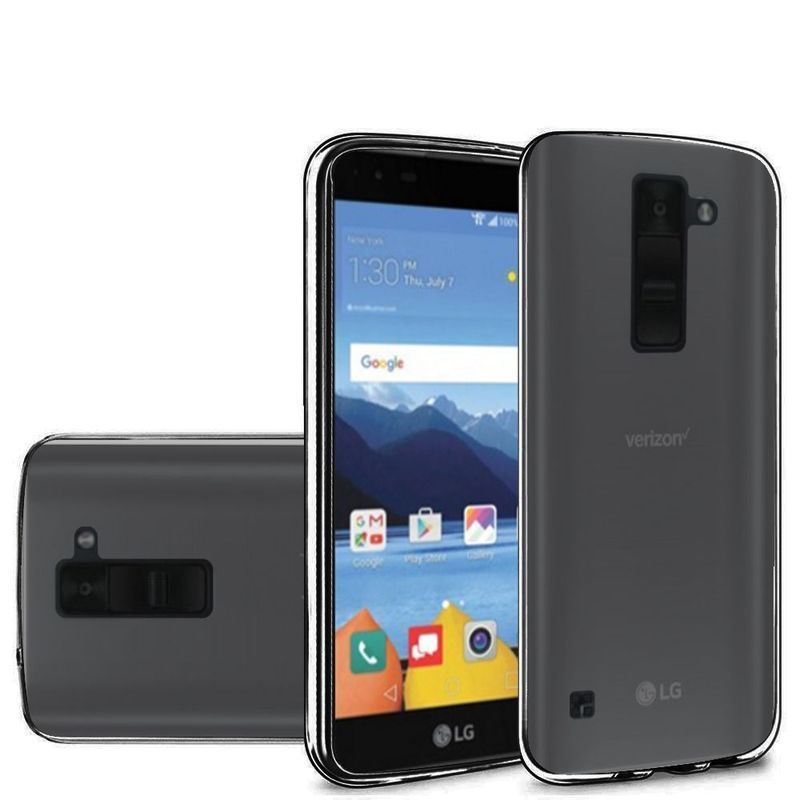 the latest 69436 e2b19 Insten Black TPU Rubber Candy Skin Case Cover For LG K8V