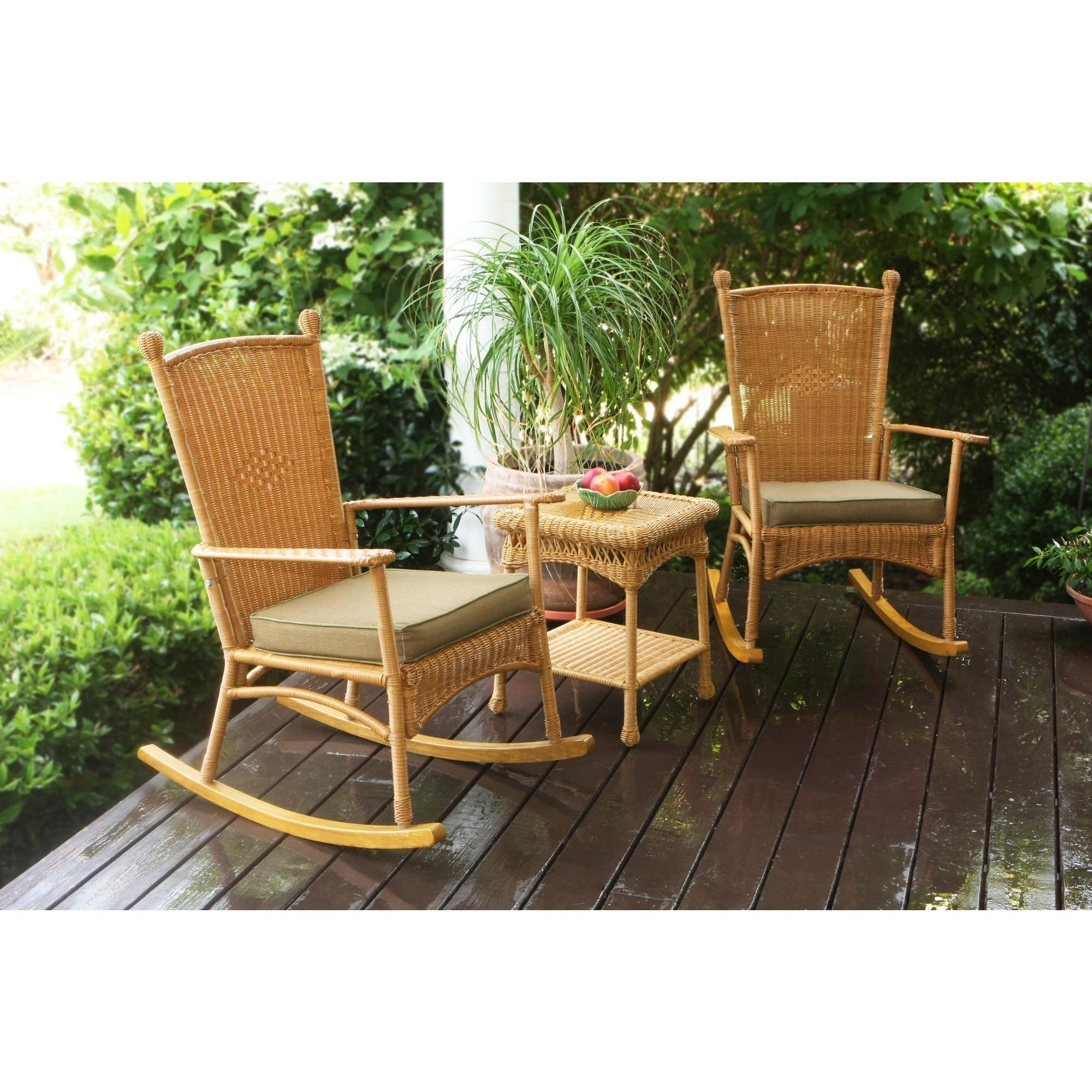 Tortuga Outdoor Classic Southwest Amber Rocking Chair (3-piece Set ...