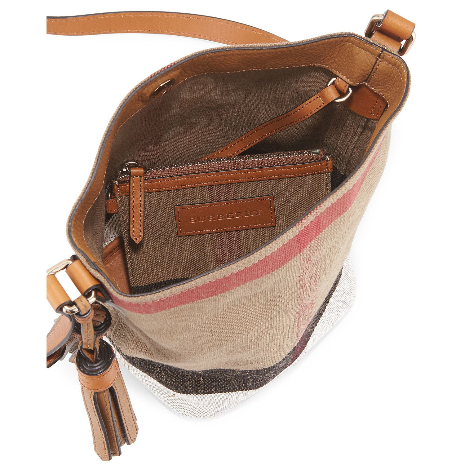 b33afe558397 Shop Burberry Mini Ashby Check Crossbody Bag - Free Shipping Today -  Overstock - 14137771