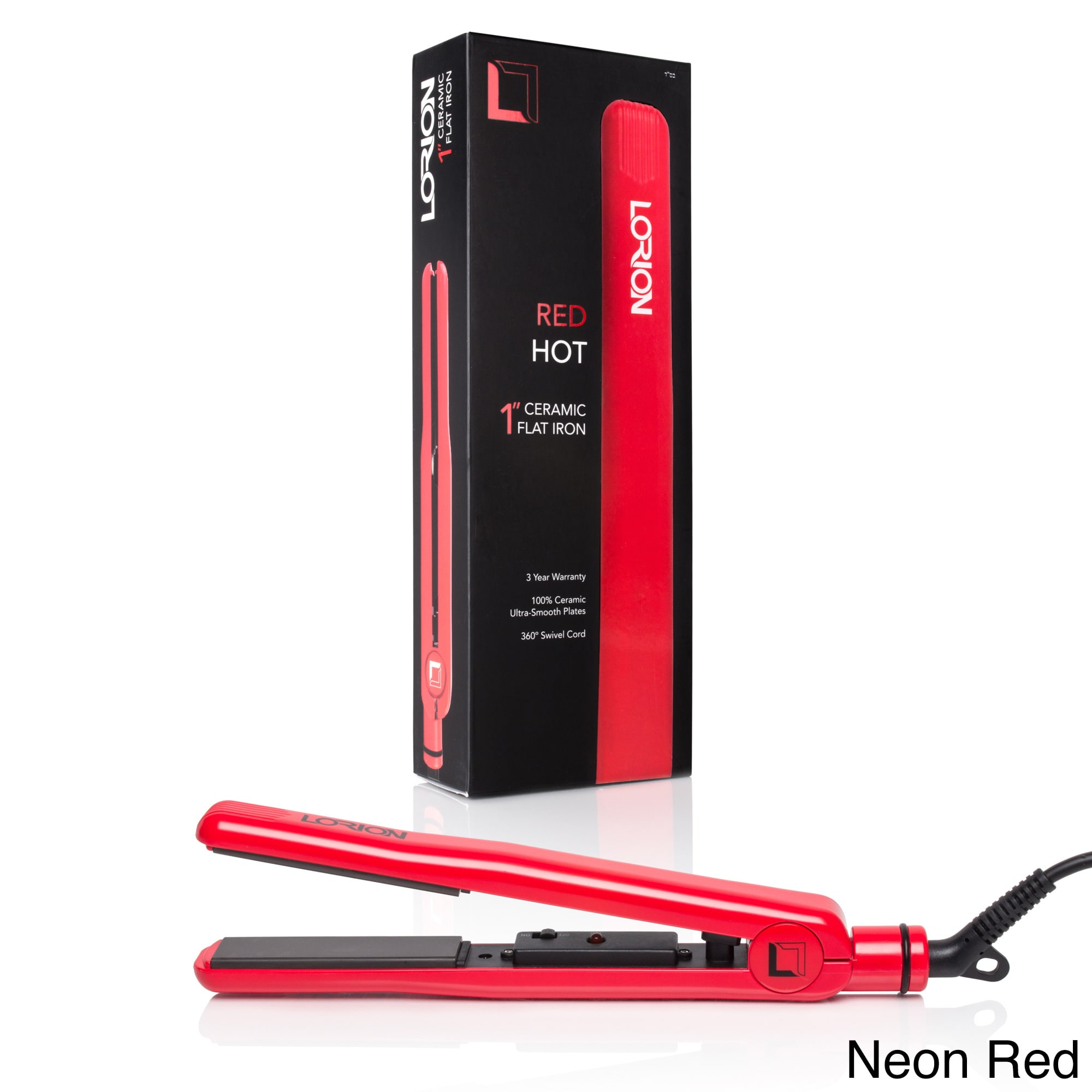 Lorion Color Pop 100-percent Solid Ceramic 1-inch Flat Iron - Free Shipping On Orders Over $45 - Overstock - 20742588  sc 1 st  Overstock.com : 100 ceramic plate flat iron - pezcame.com