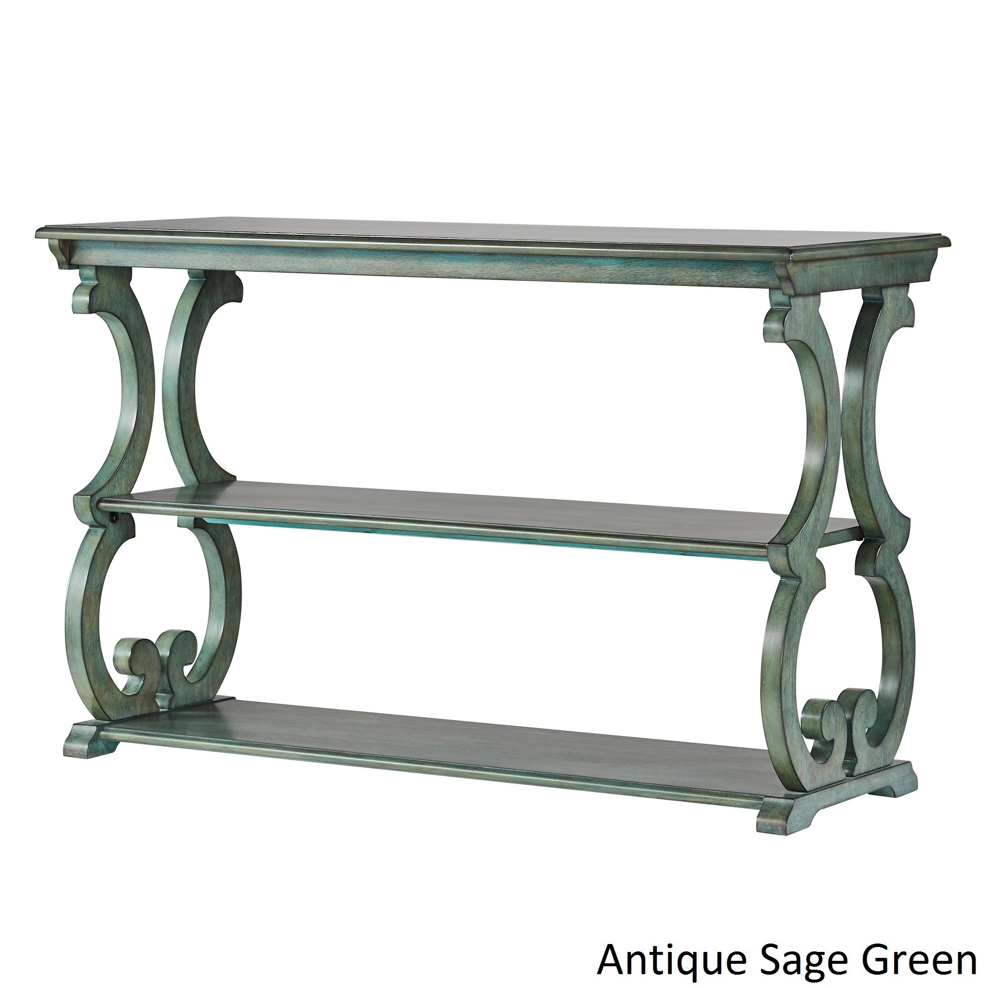 Shop Lorraine Wood Scroll TV Stand Sofa Table by iNSPIRE Q Classic ...