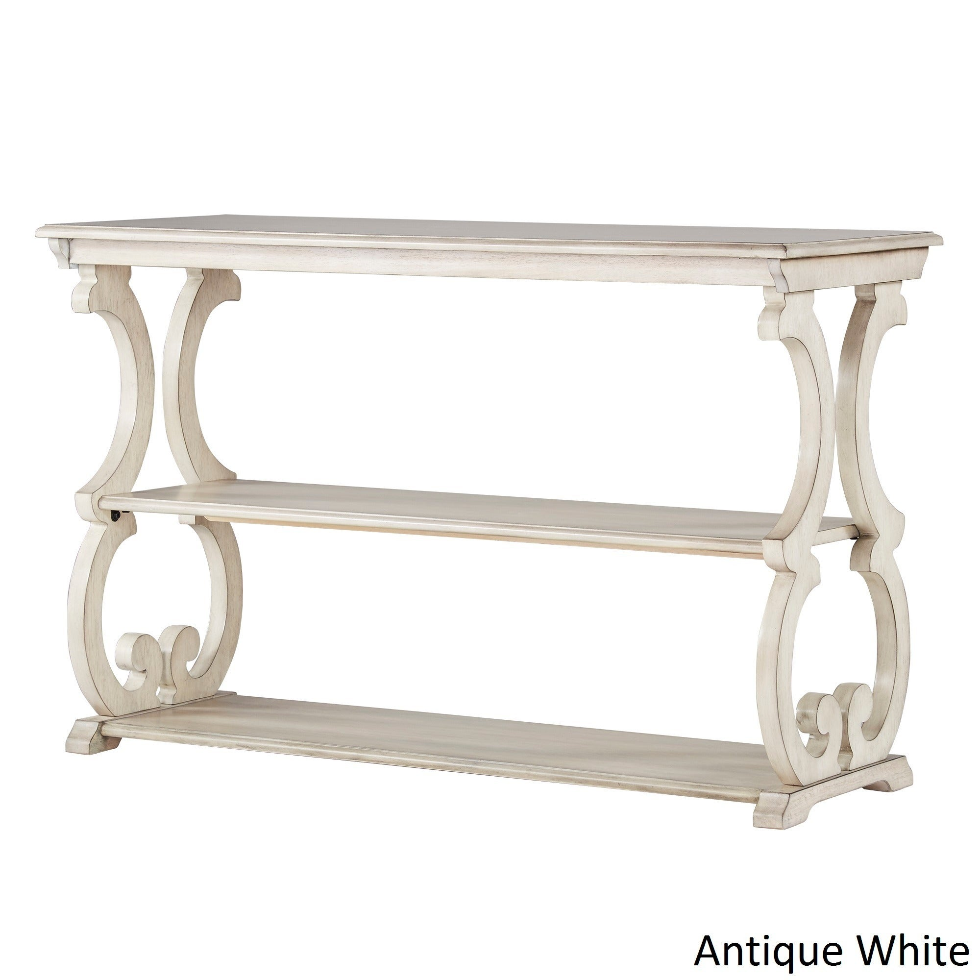 White sofa table Wood Top Shop Lorraine Wood Scroll Tv Stand Sofa Table By Inspire Classic Free Shipping Today Overstockcom 14139014 Overstock Shop Lorraine Wood Scroll Tv Stand Sofa Table By Inspire Classic