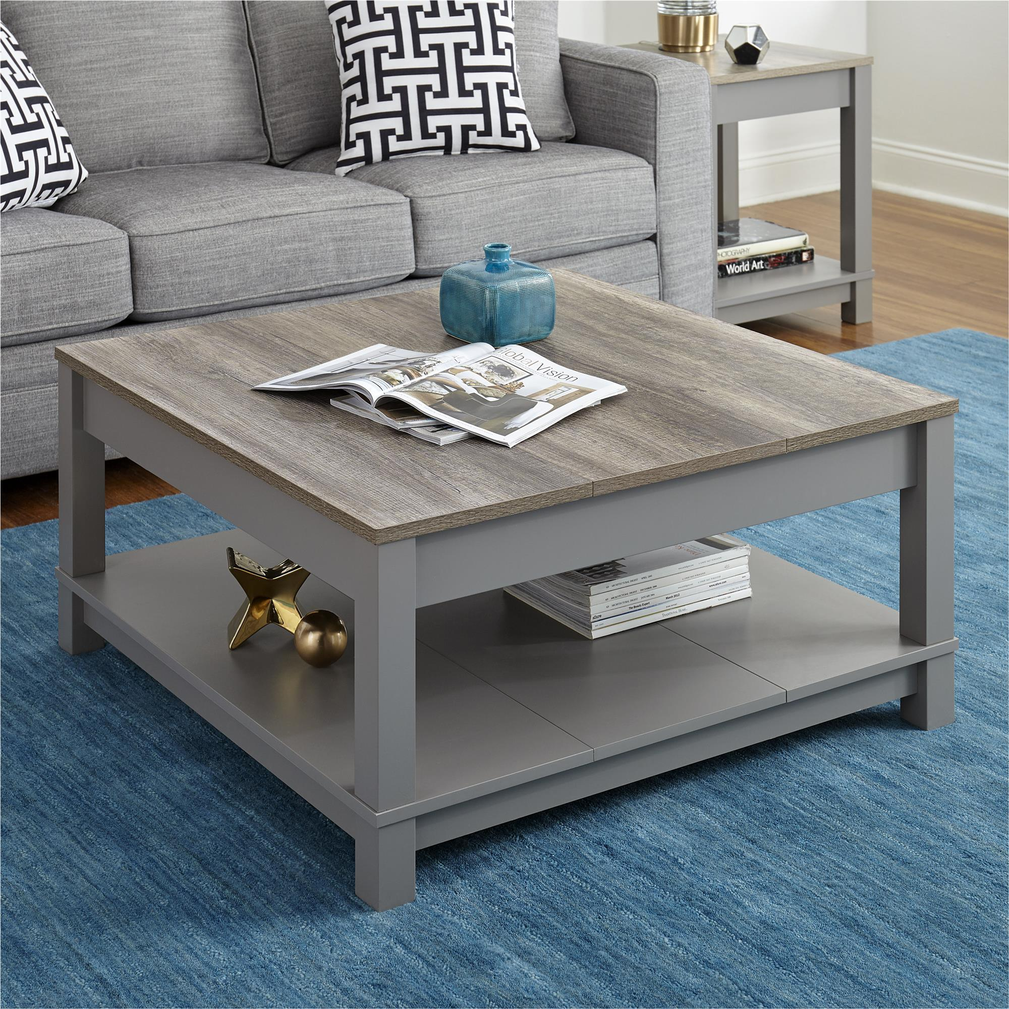 Shop Altra Carver Grey/ Sonoma Oak Coffee Table   Free Shipping Today    Overstock.com   14139271