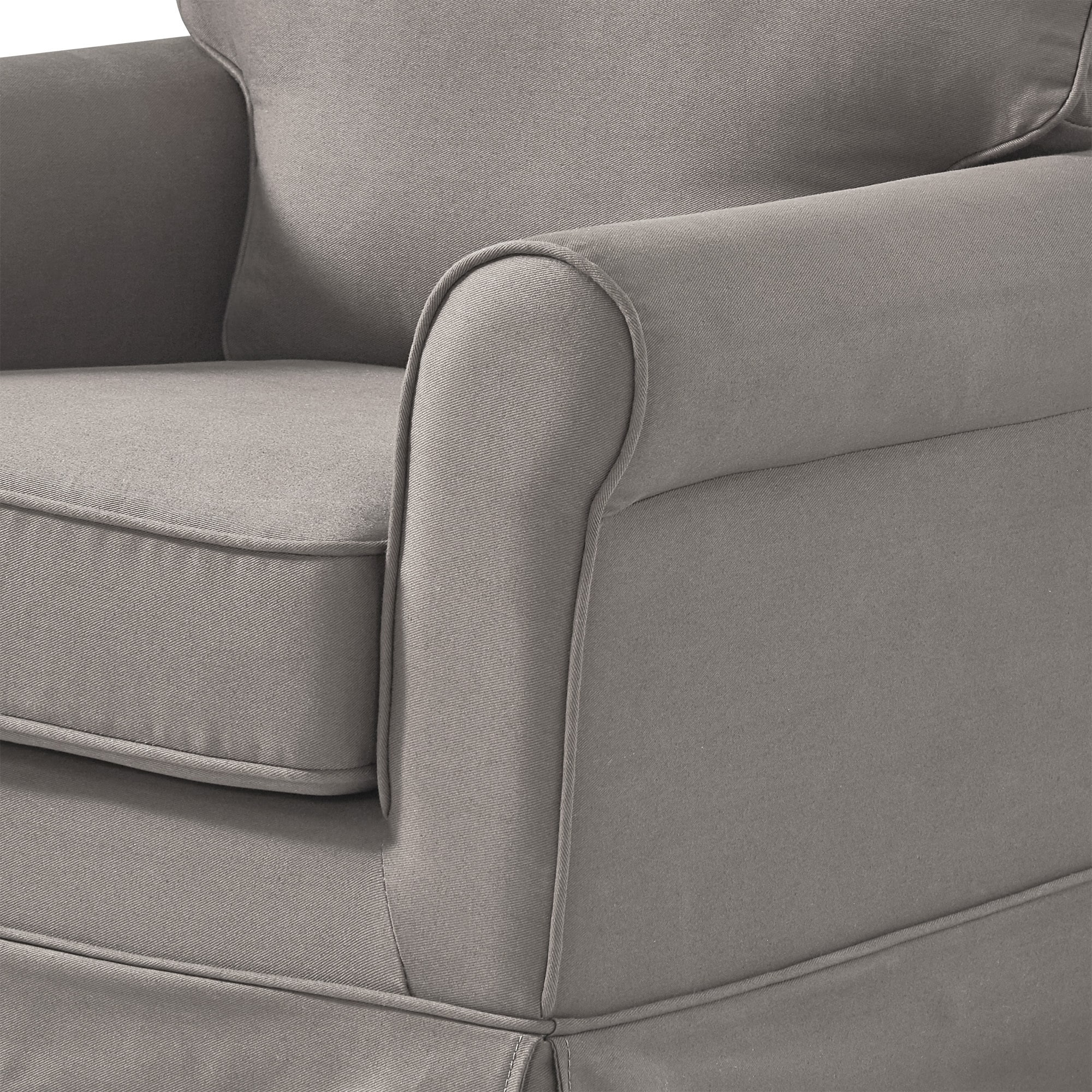 Fallon Rolled Arm Cotton Fabric Swivel Rocking Chair by iNSPIRE Q Classic -  Free Shipping Today - Overstock.com - 20742637
