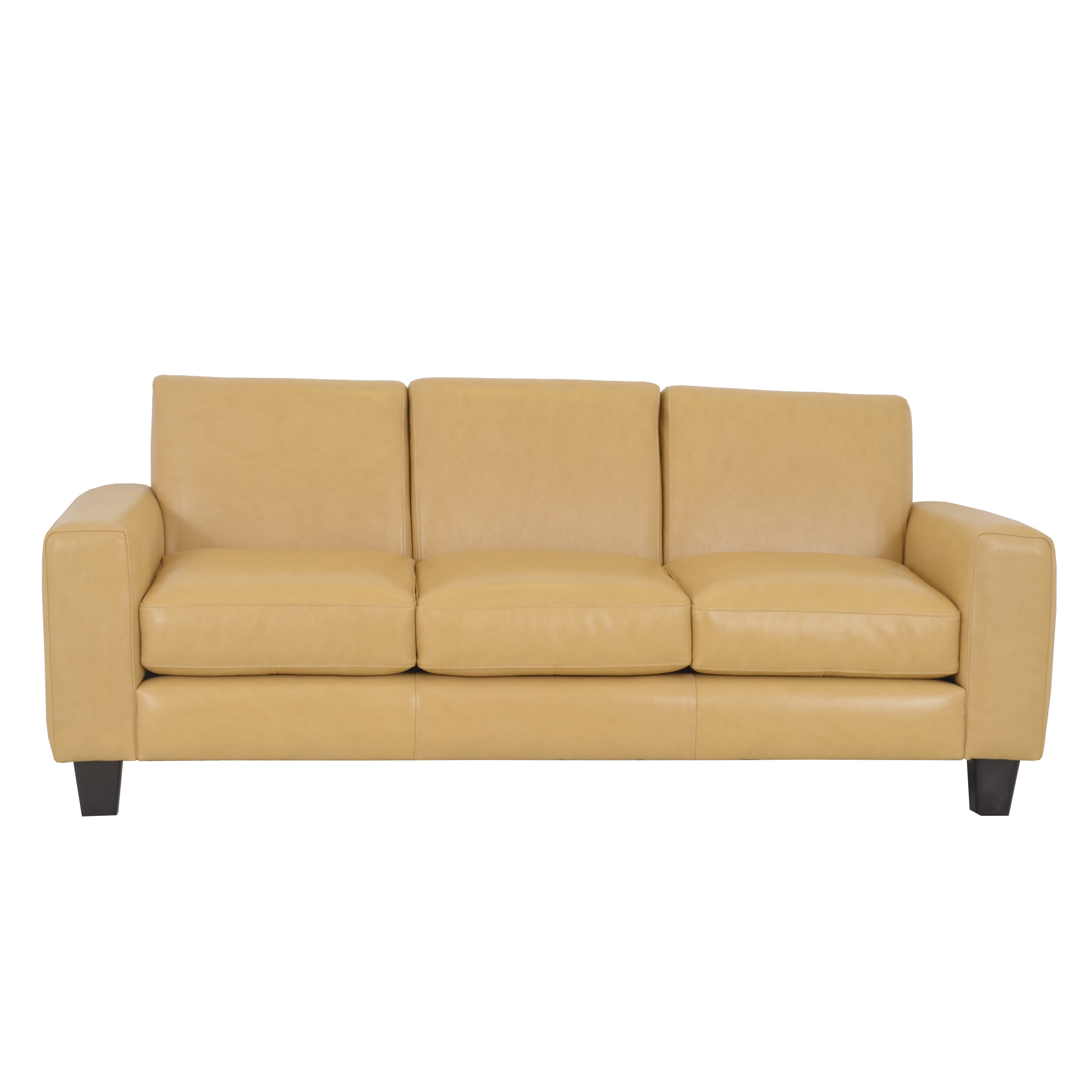 Shop Made To Order Columbia Genuine Top Grain Leather Sofa On Sale