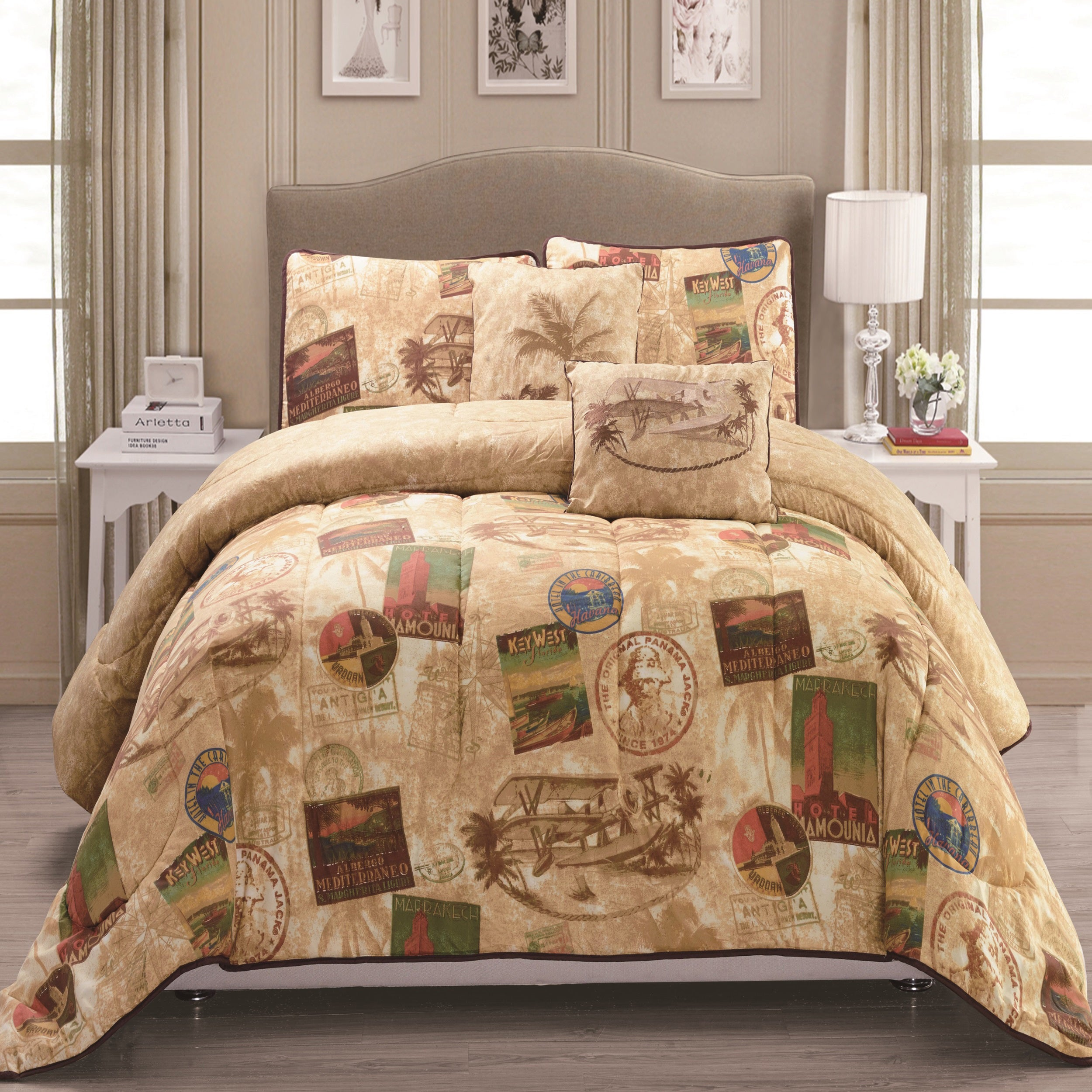 p flax rose ruffled bedding floral vintage bed set daybed