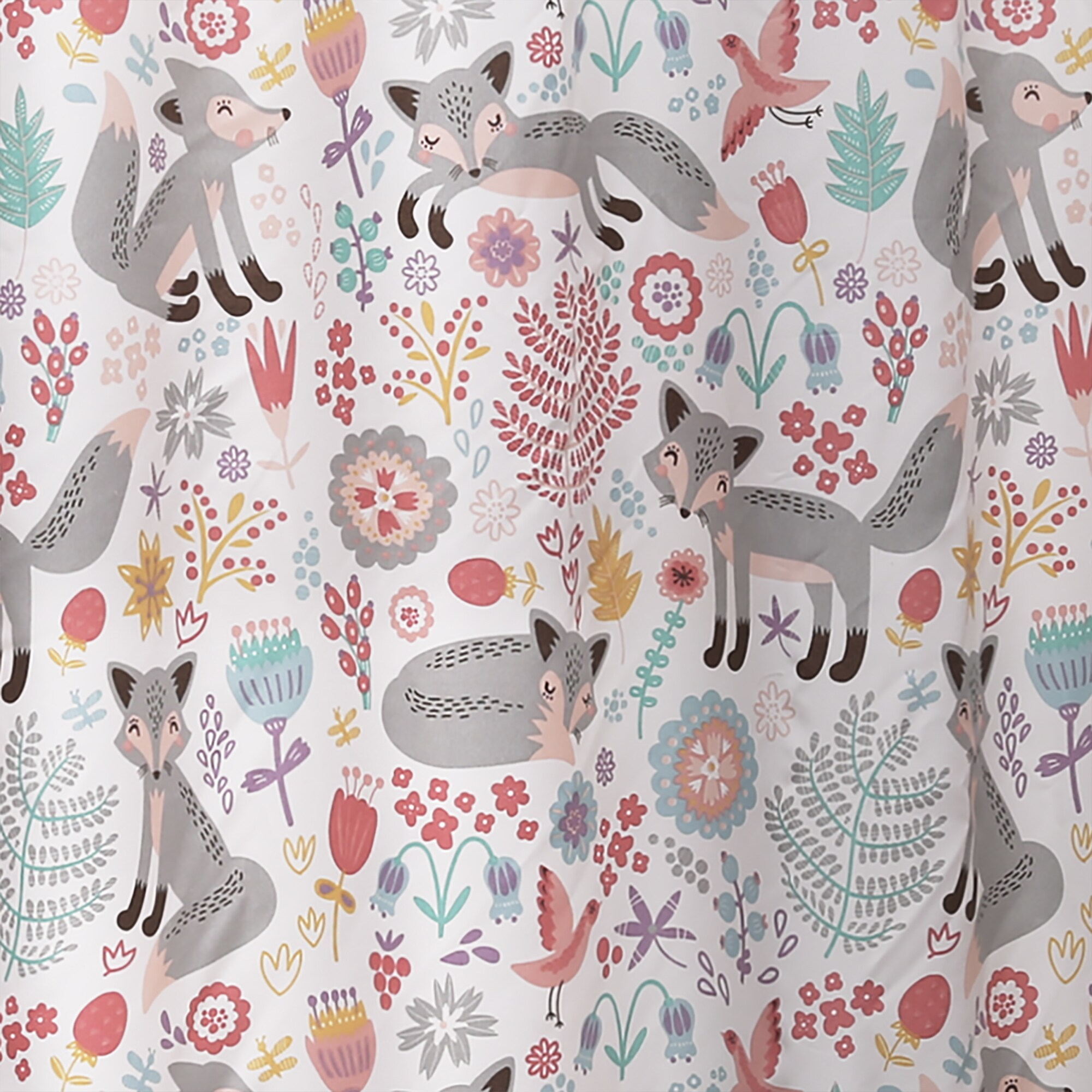 Shop Lush Decor Pixie Fox Shower Curtain
