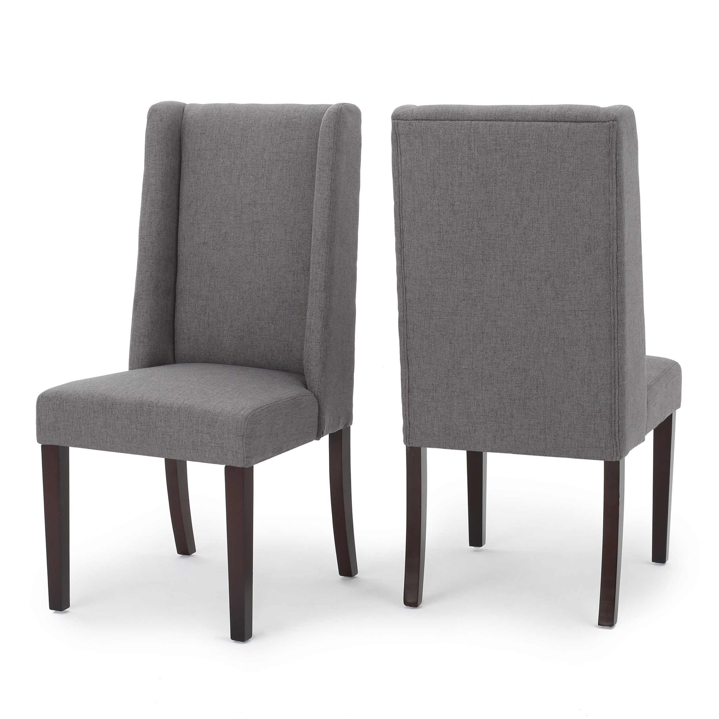 Top Rory Wing-Back Fabric Dining Chair (Set of 2) by Christopher  IK24