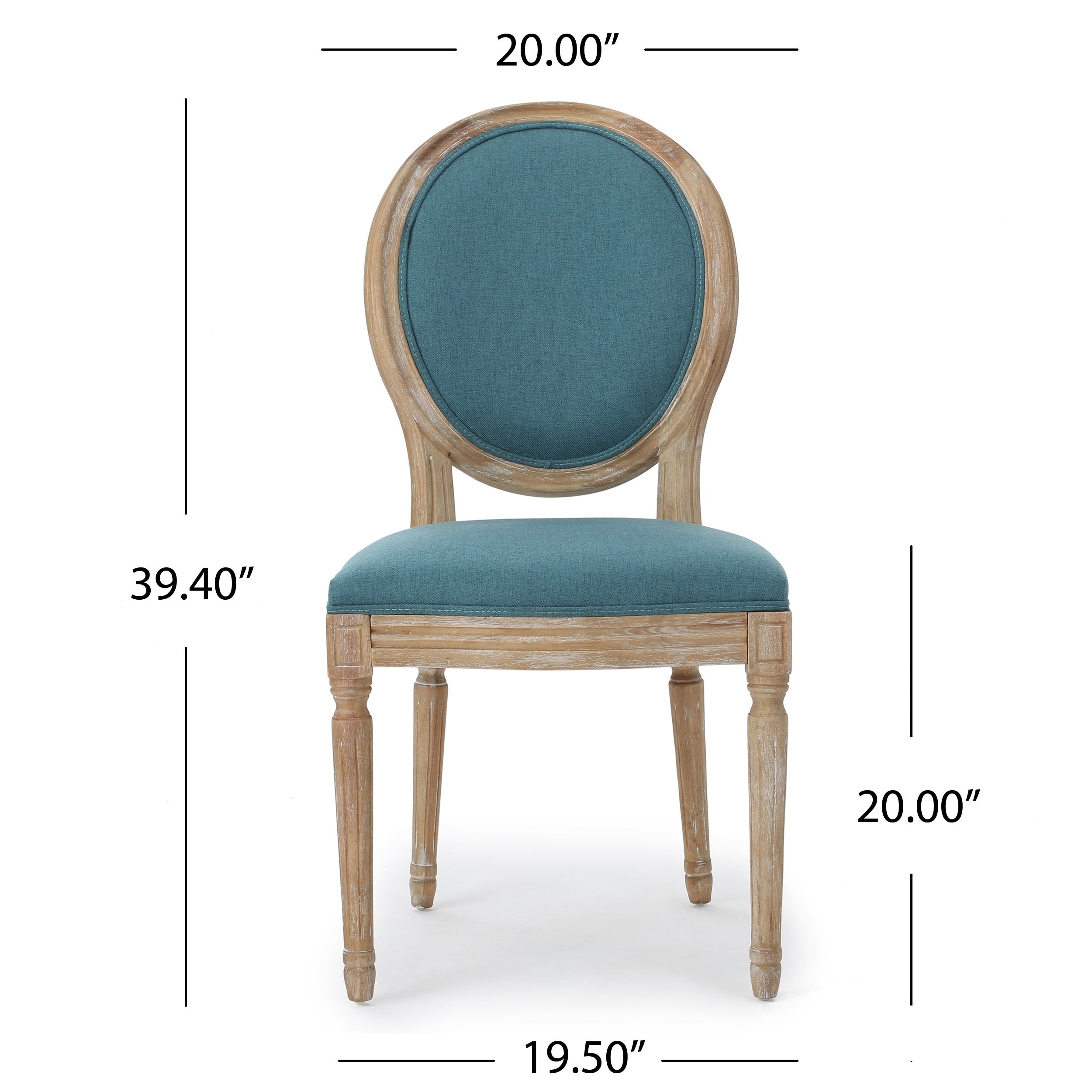 Shop Phinnaeus Fabric Dining Chair by Christopher Knight Home (Set ...