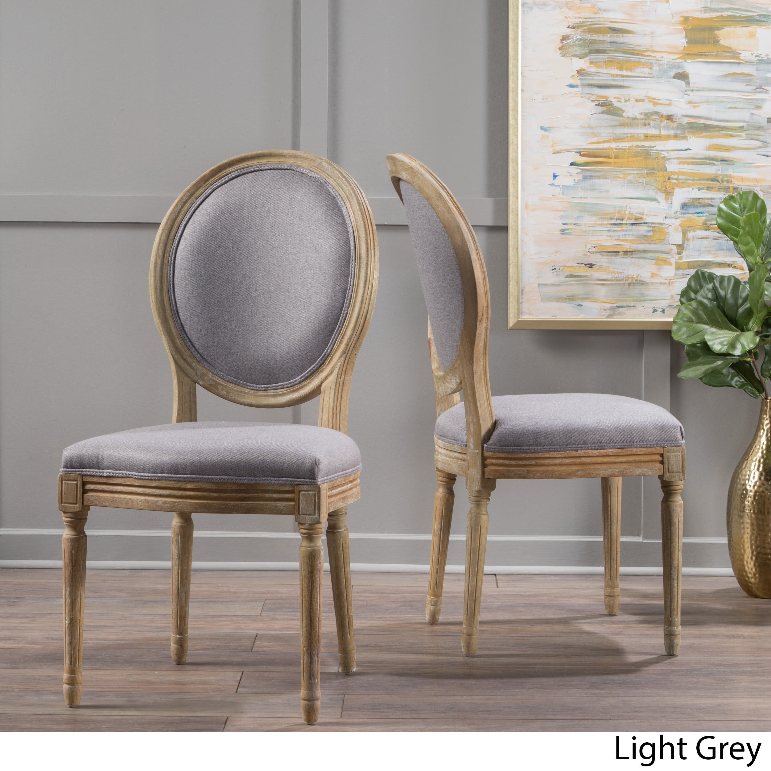 Shop Phinnaeus Fabric Dining Chair By Christopher Knight Home Set