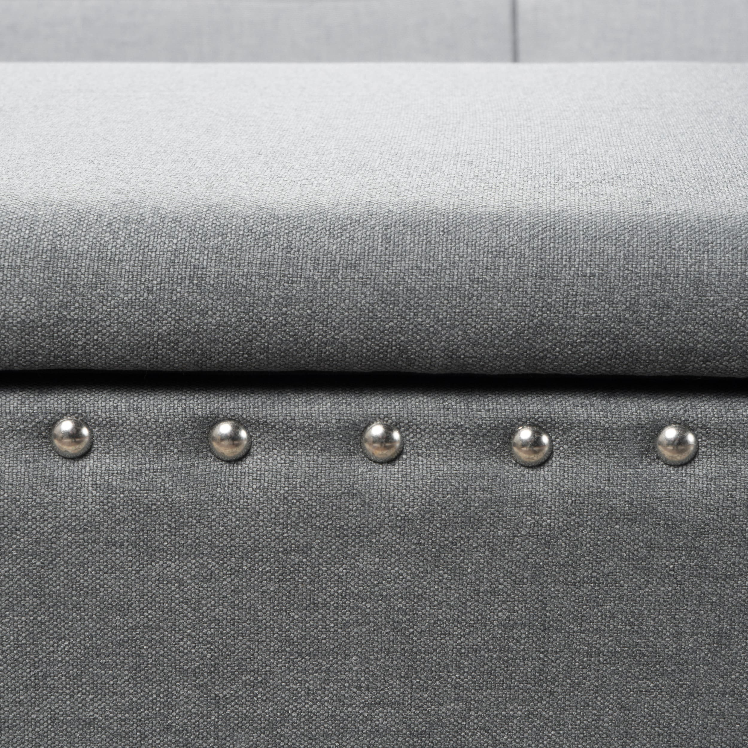 Tatiana Studded Fabric Storage Ottoman Bench By Christopher Knight Home    Free Shipping Today   Overstock.com   20744638